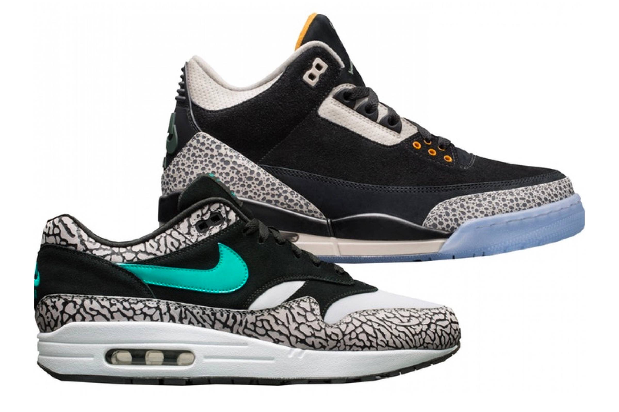 "Atmos x Air Jordan III x Air Max 1 ""Safari Pack"""