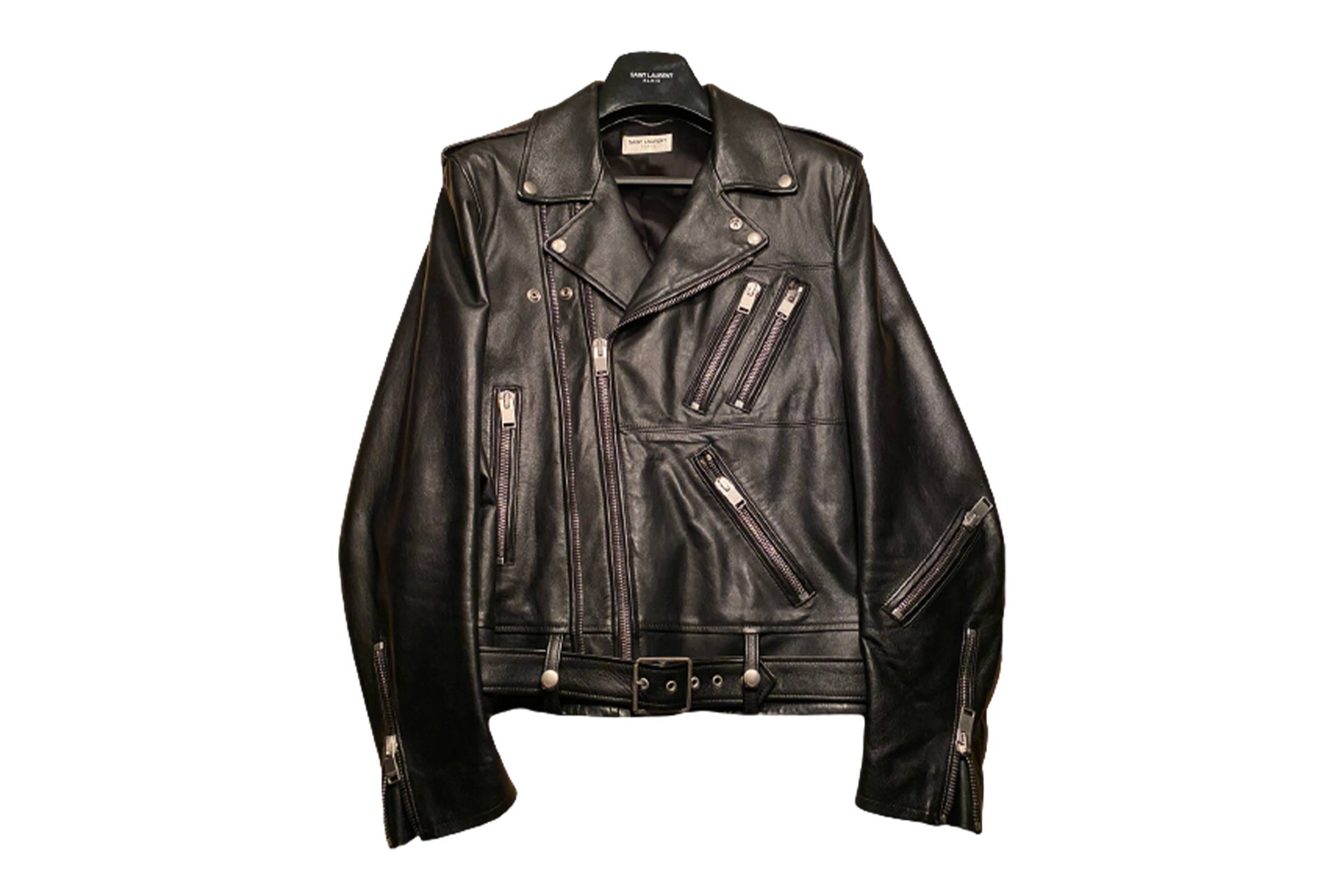 Saint Laurent Paris Spring/Summer 2014 Multi Zip Leather Jacket