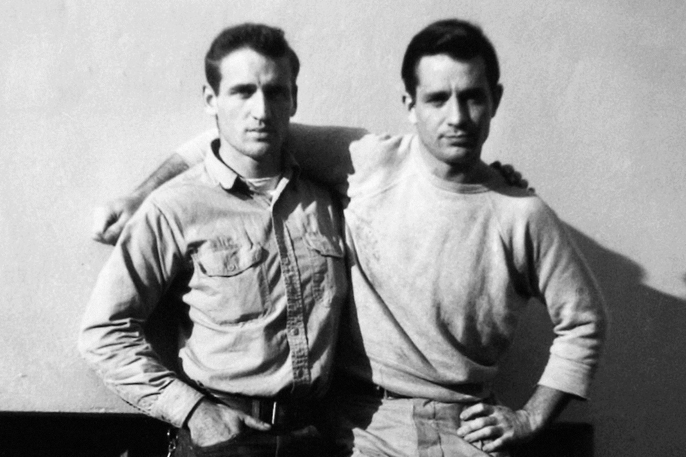 """Neal Cassaday (left) and Jack Kerouac. A letter from Cassady to Kerouac would go on to inspire """"On the Road"""""""