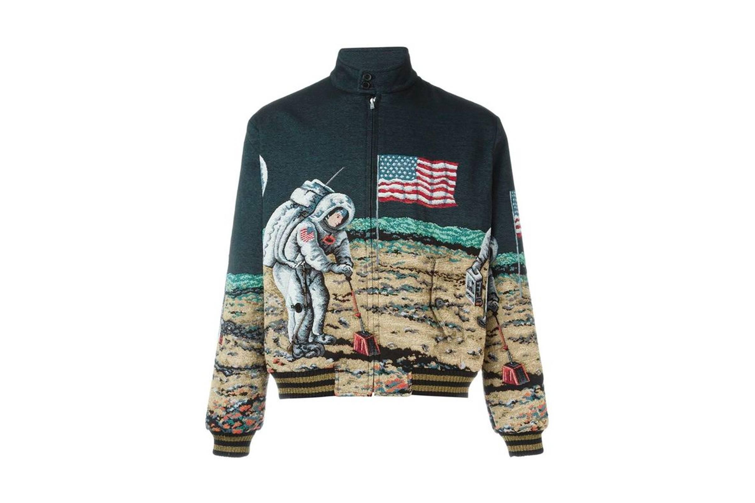 "Saint Laurent ""Moon Landing"" Bomber Jacket"