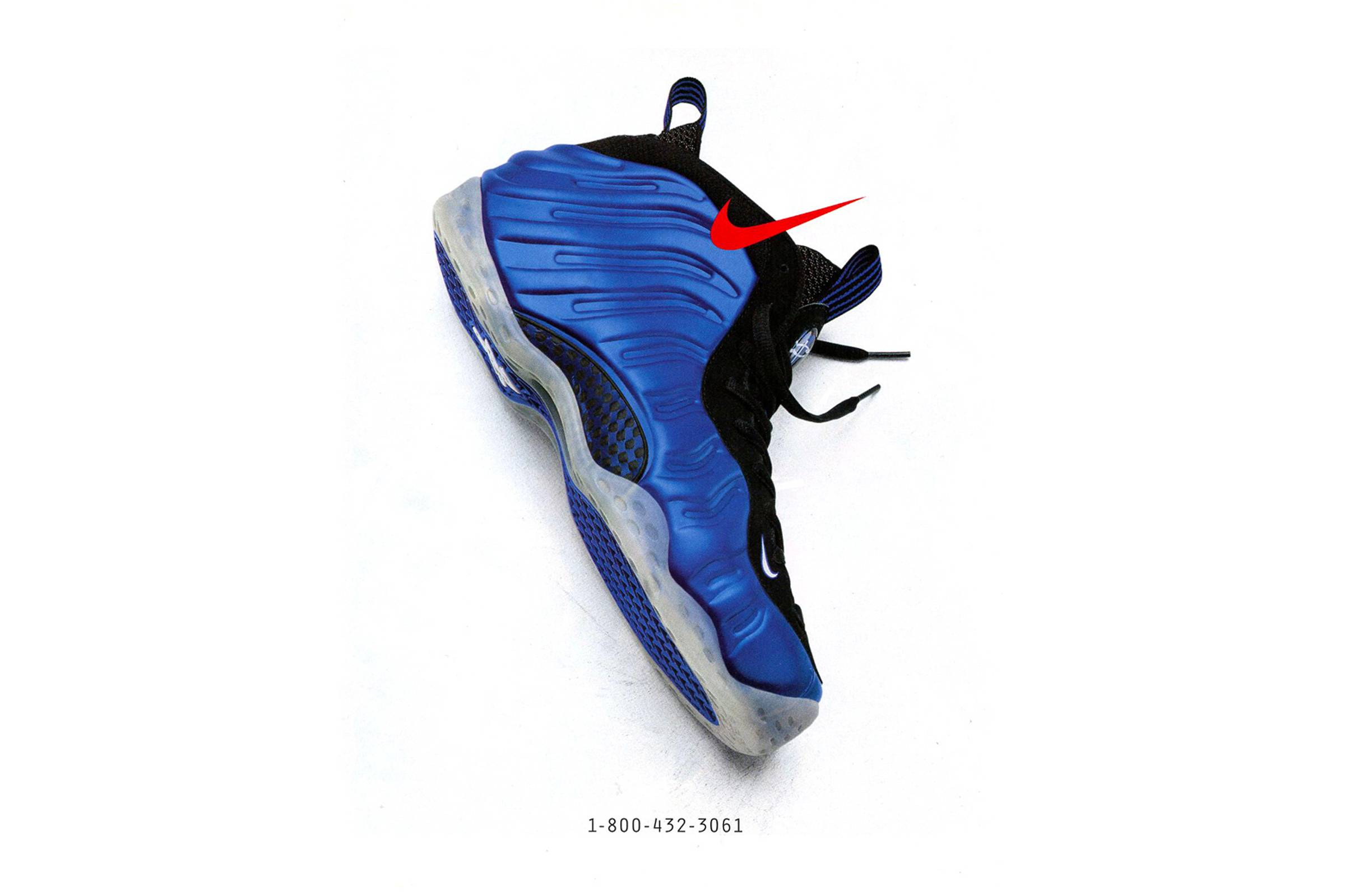 """A Nike """"Phone Ad"""" featuring the Nike Foamposite One """"Royal"""""""