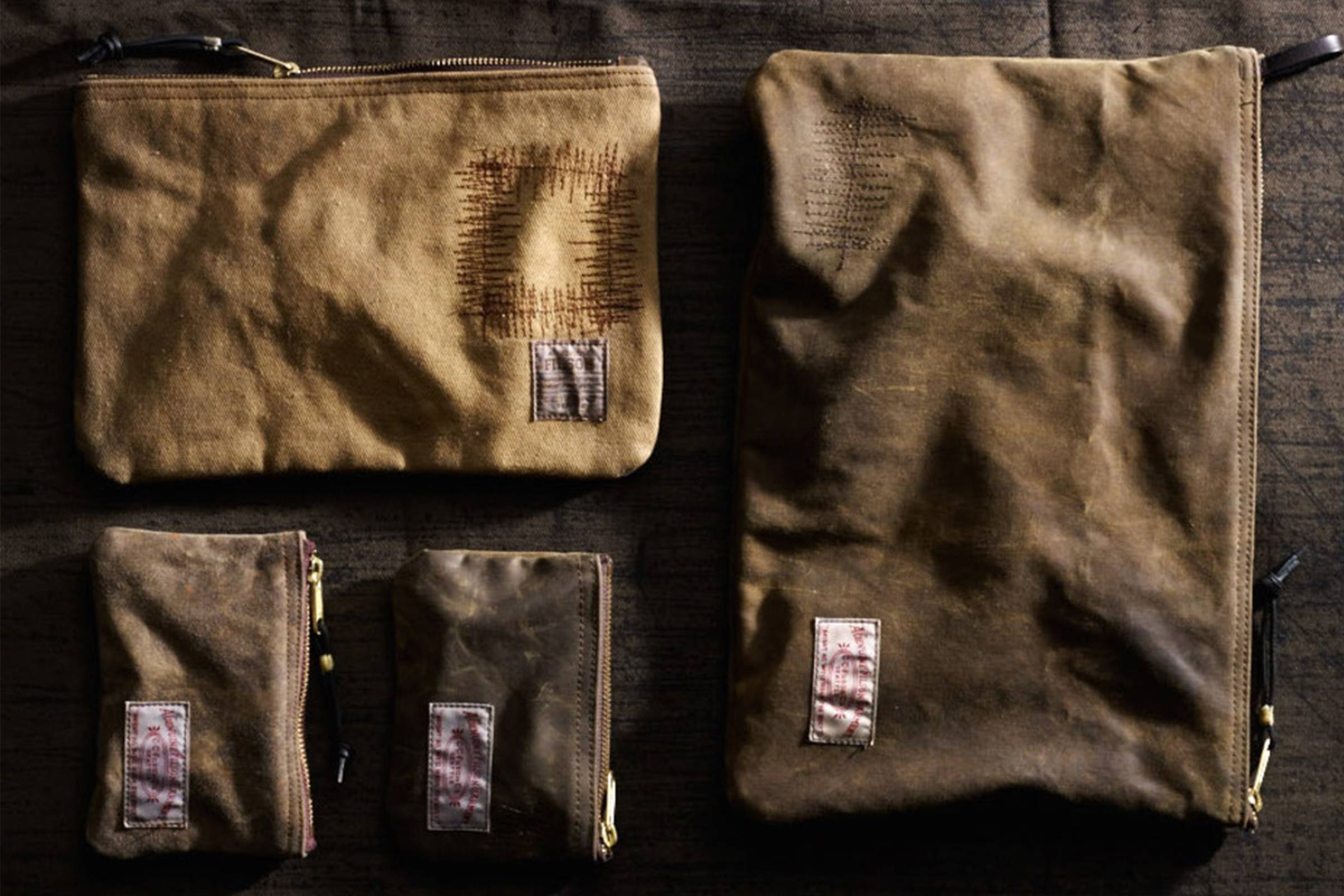 Products reworked by Filson's Restoration Department in Seatlle