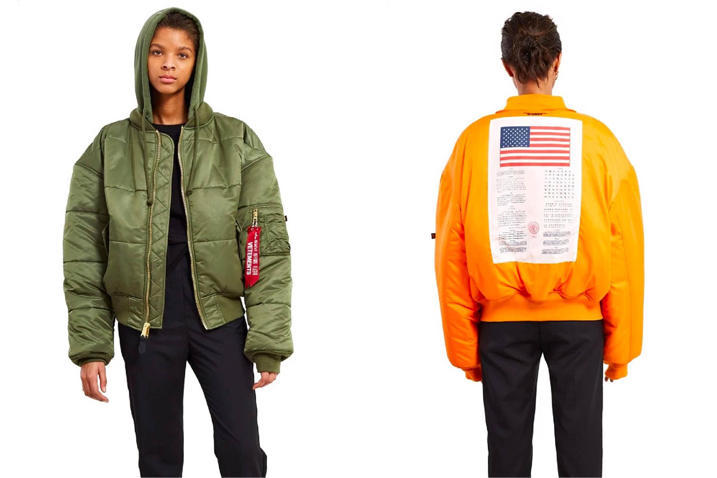 Vetements x Alpha Industries bomber jacket