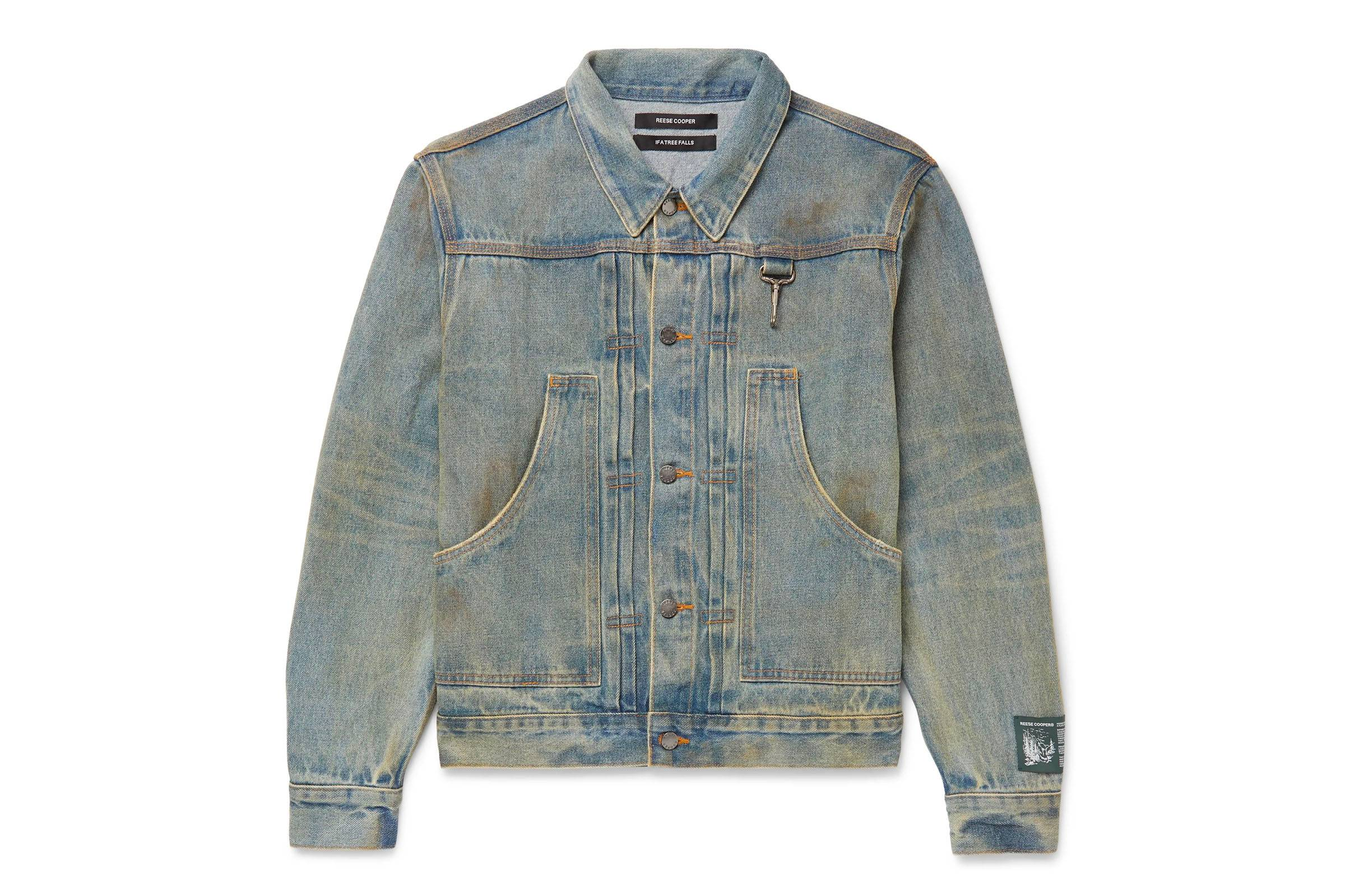 Reese Cooper Distressed Denim Jacket