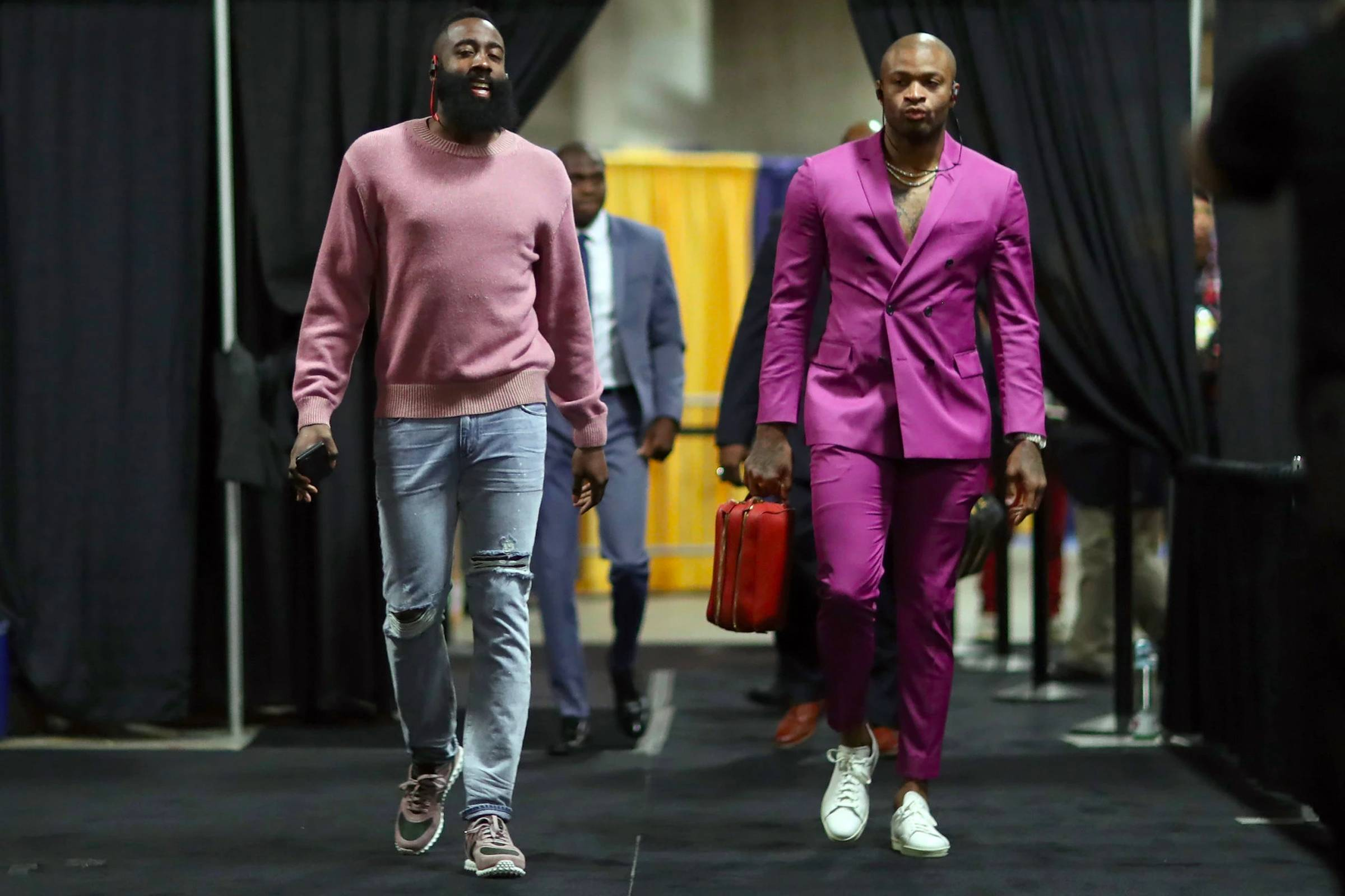 """fdd96bea5cc ... Westbrook to James Harden—are firmly at the forefront of the  basketballs embrace of fashion. """"The NBA is the most stylish league around"""