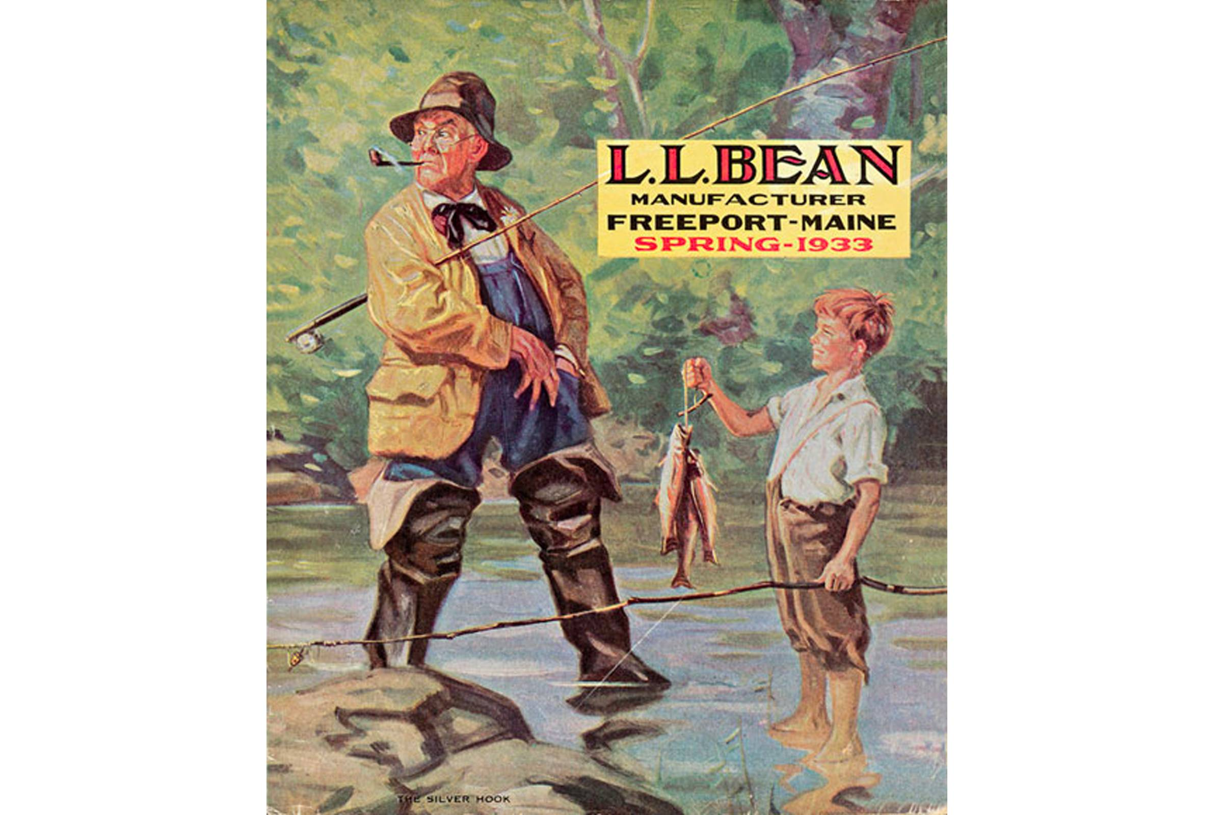 The Spring 1933 L.L. Bean catalog cover