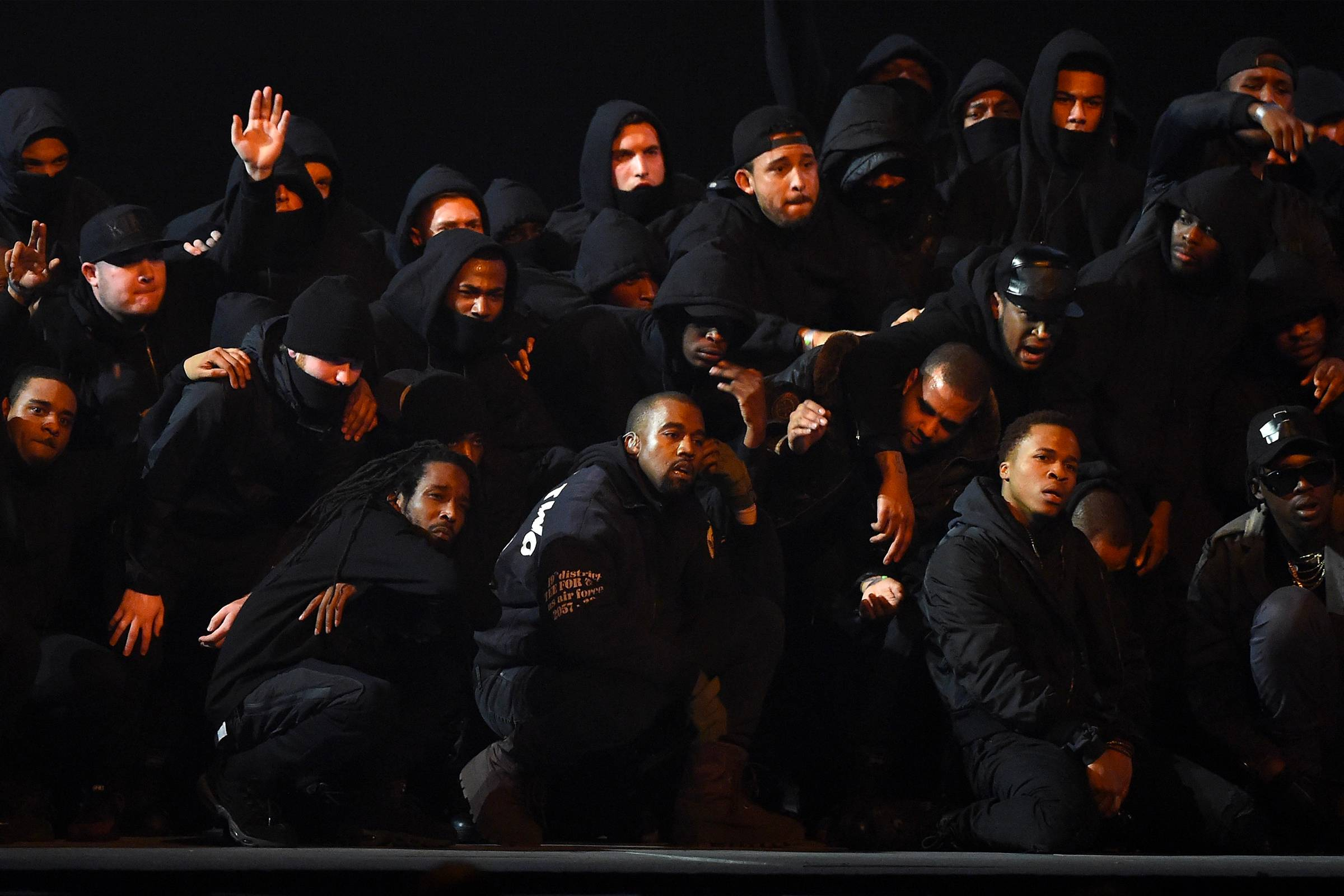 "Kanye West performing ""All Day"" at the 2015 BRIT Awards"
