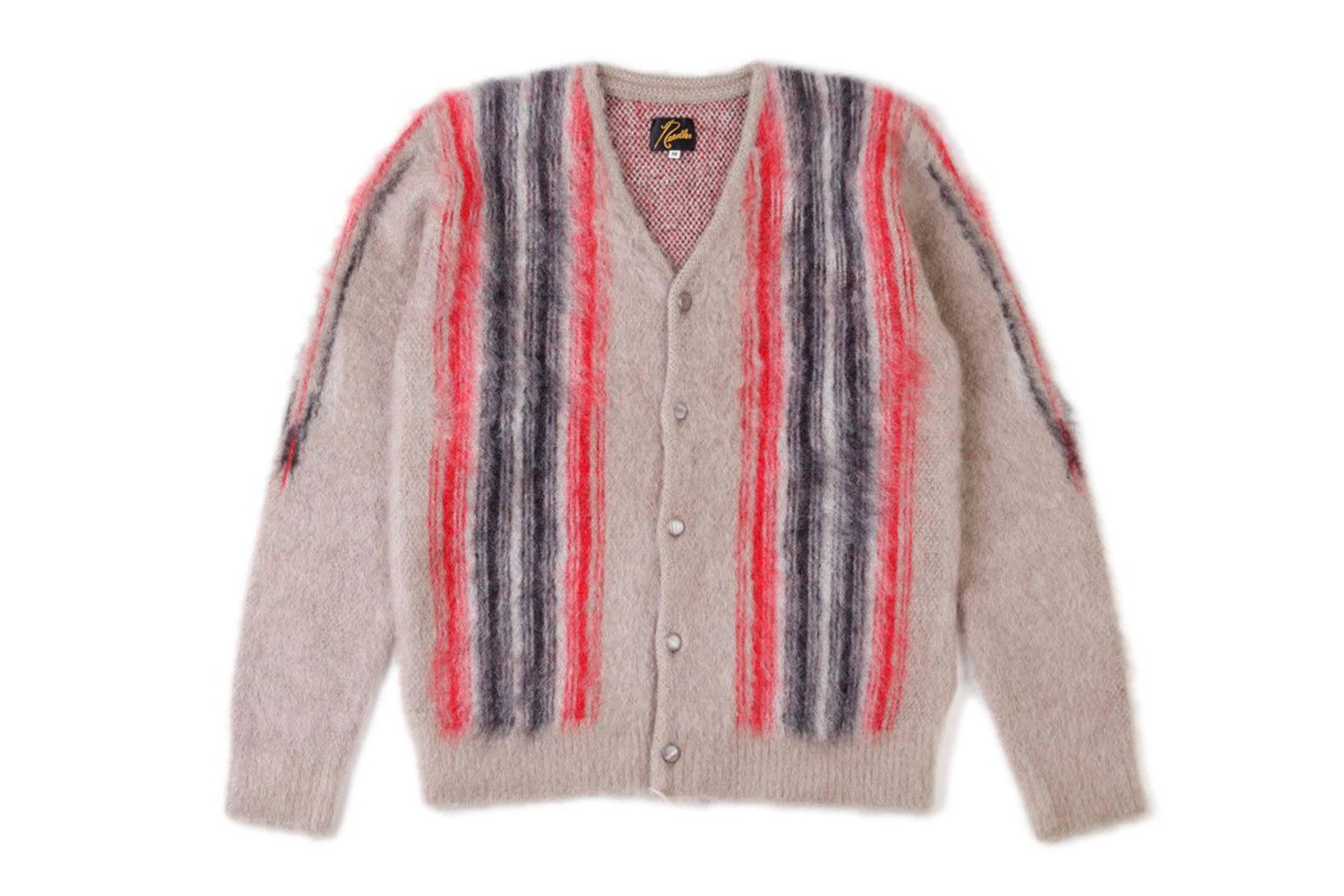 Needles Striped Mohair Cardigan
