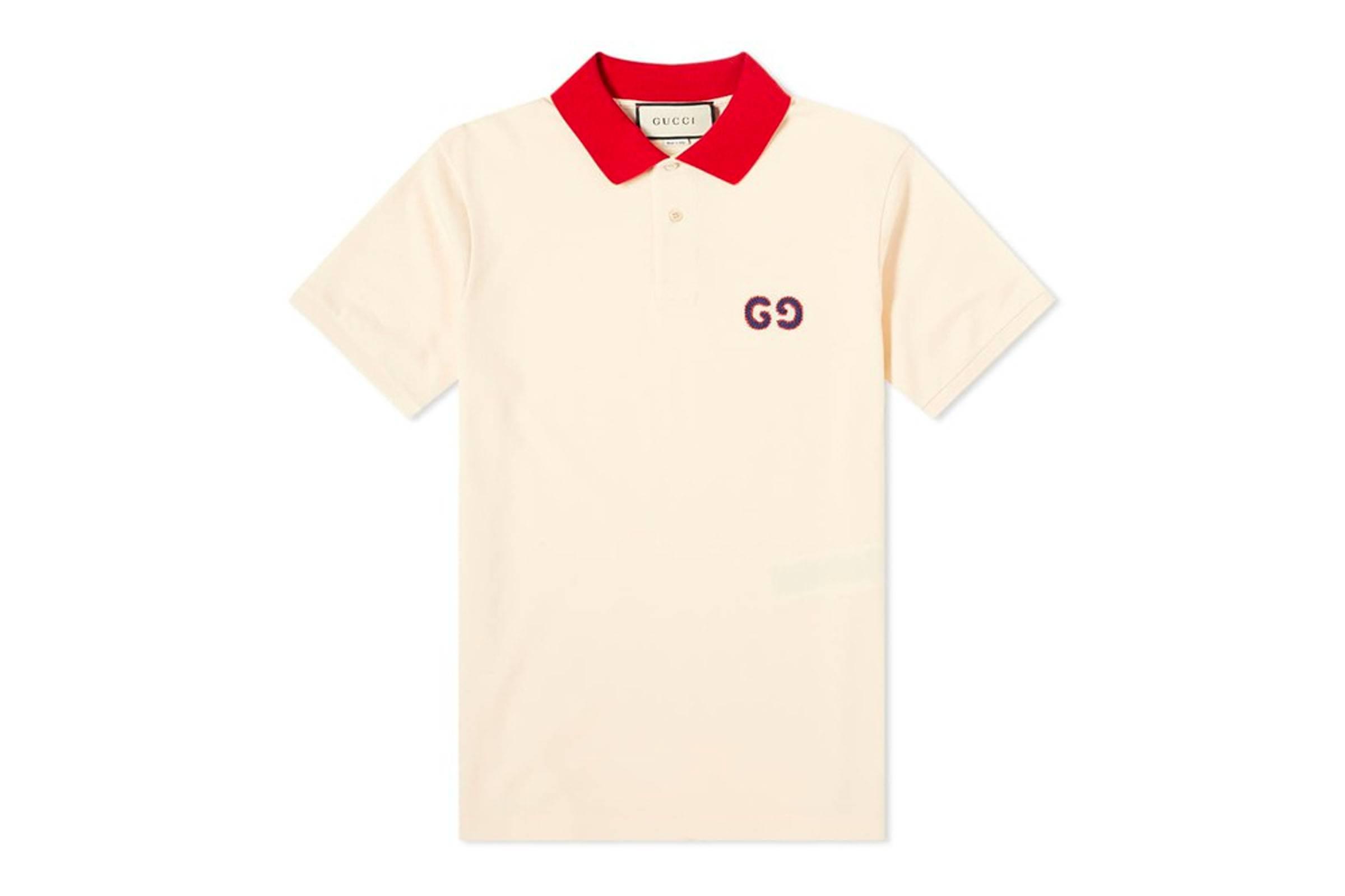 Gucci Contrast Collar Polo