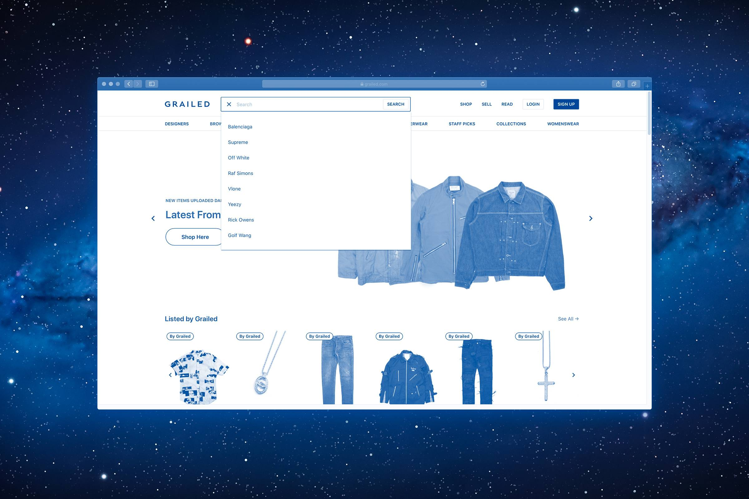 Searching on Grailed