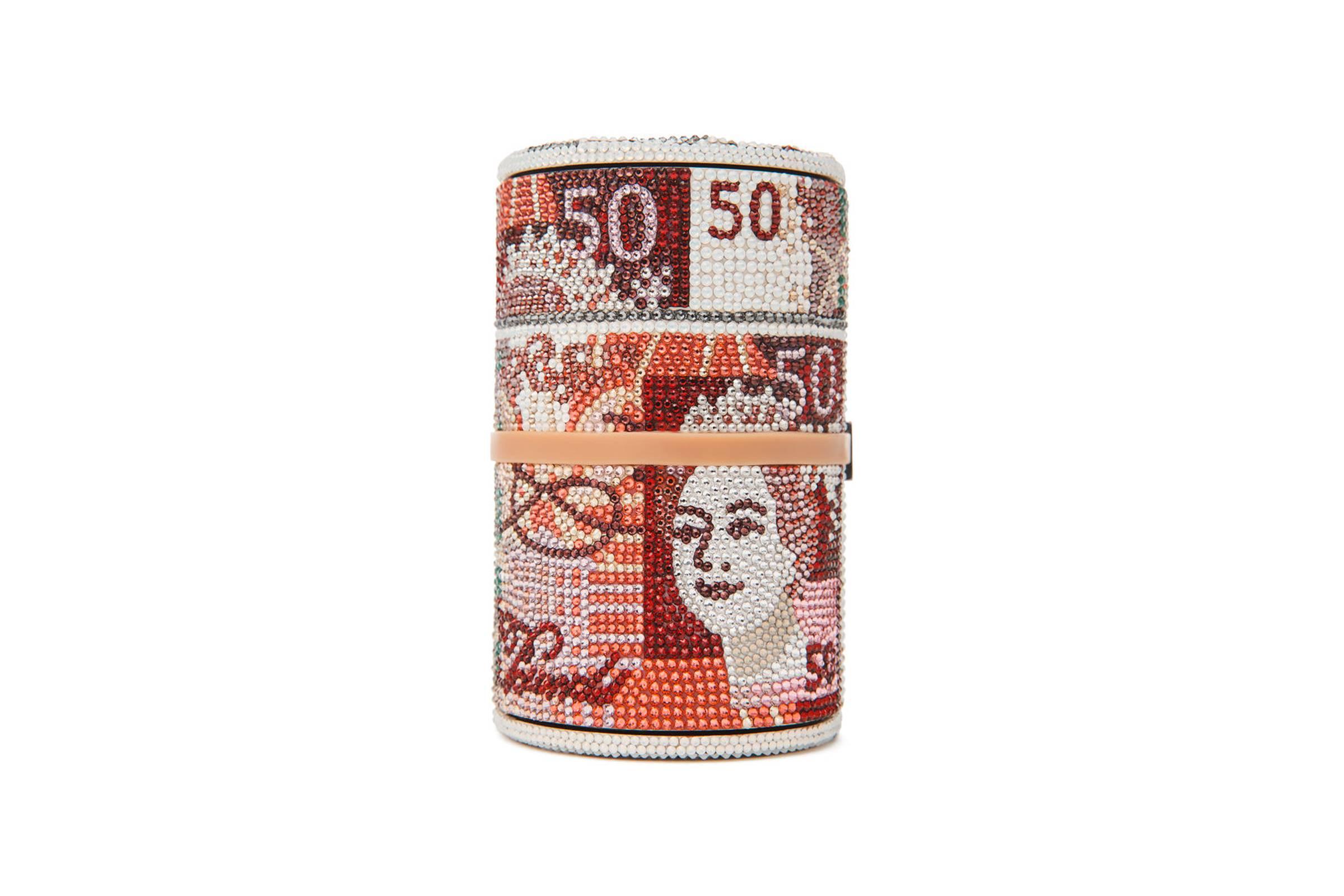 """2. Alexander Wang x Judith Leiber """"British Pound"""" Money Roll Clutch"""