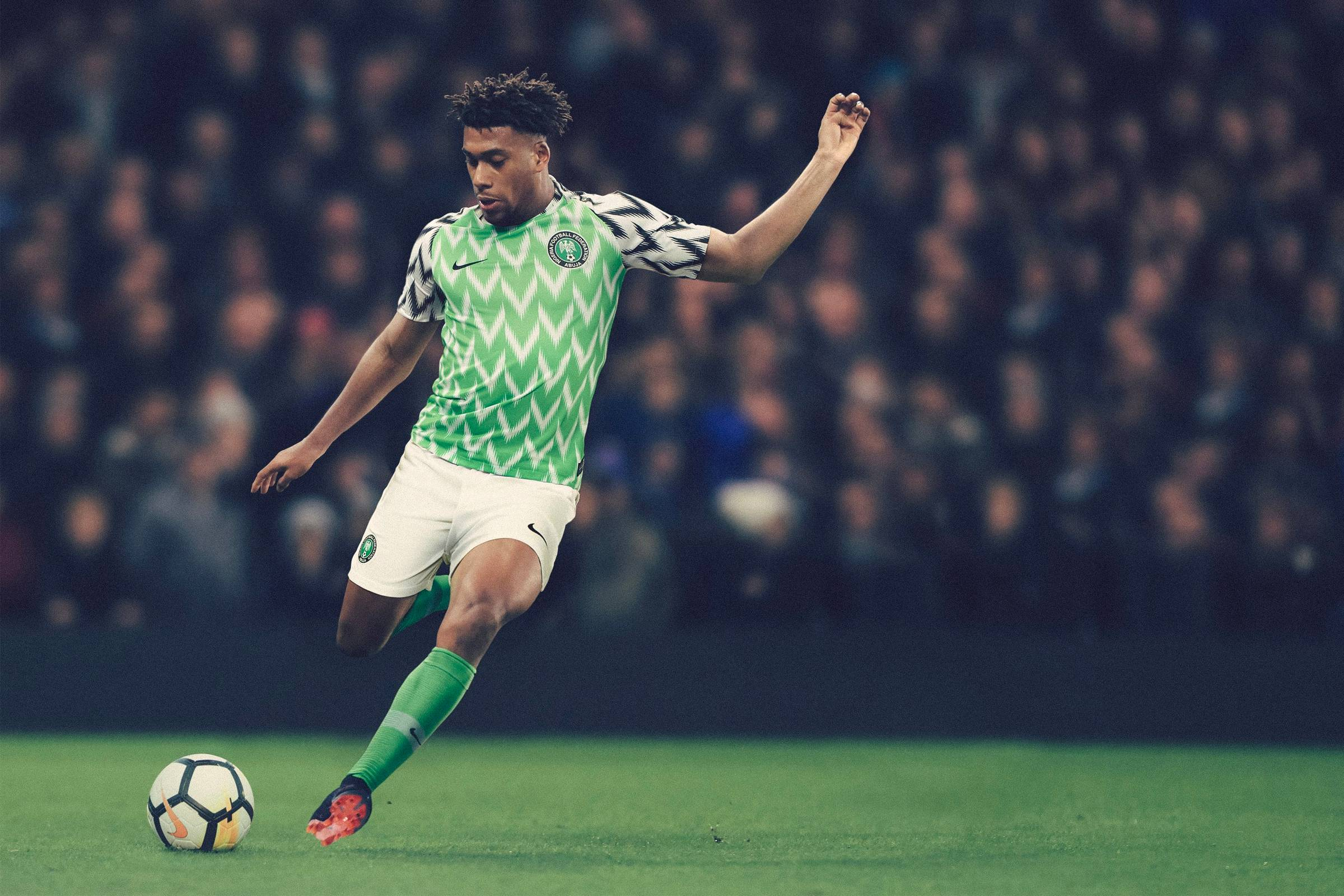 0b08182885e ... kit that has sparked renewed interest and debate about the greatest  kits of all time  Nigeria s Nike-designed home kit for the 2018 World Cup.