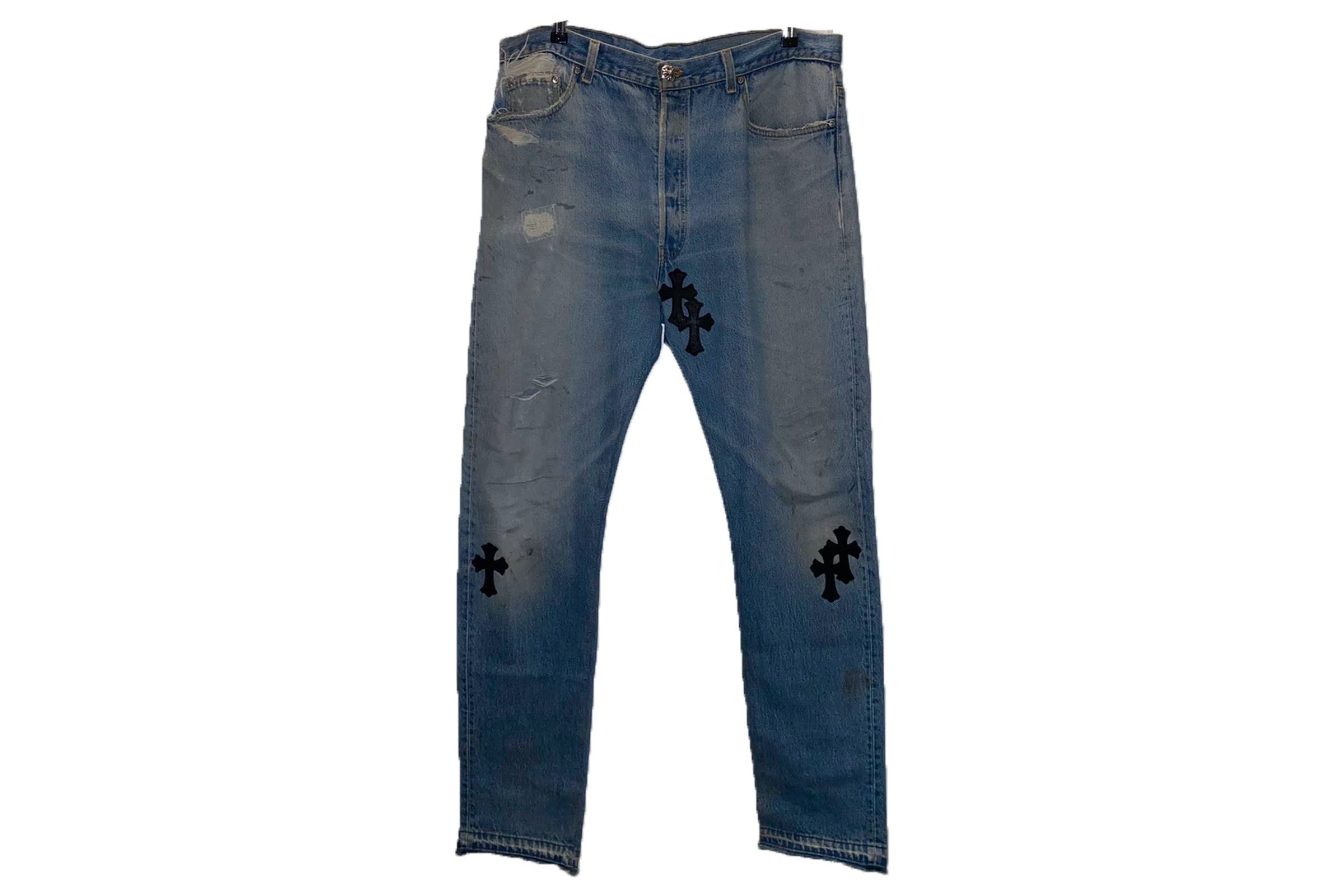 Chrome Hearts Leather Applique Jeans
