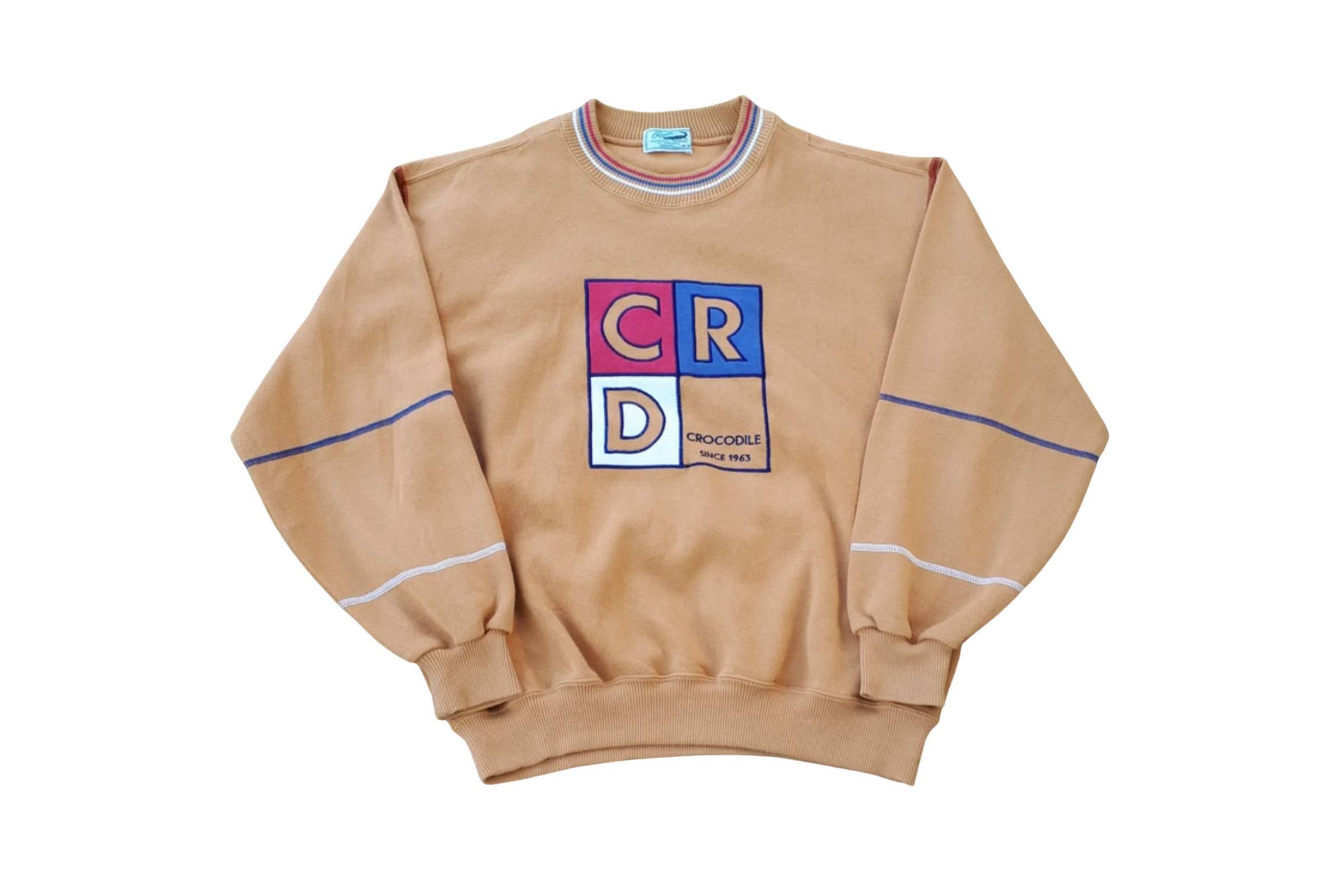 Crocodile Multicolor Logo Sweatshirt