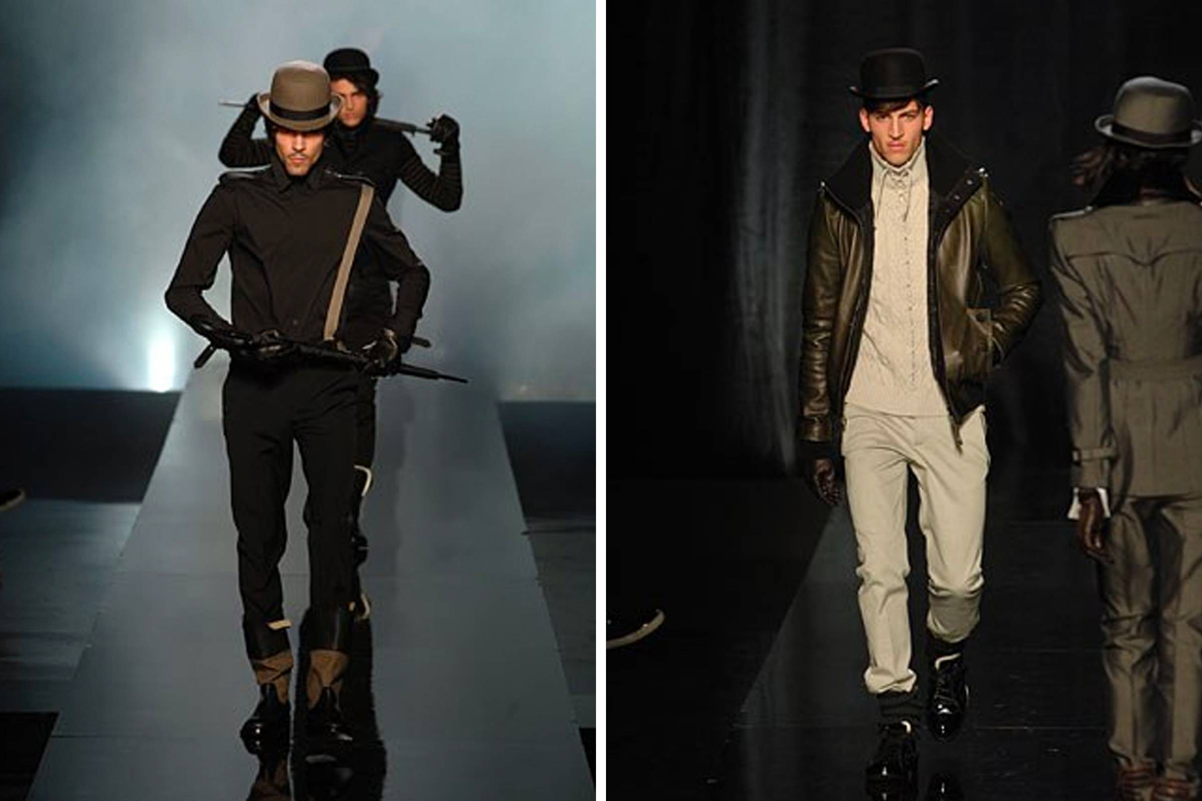 Looks from Jean-Paul Gaultier's Fall/Winter 2008 menswear collection