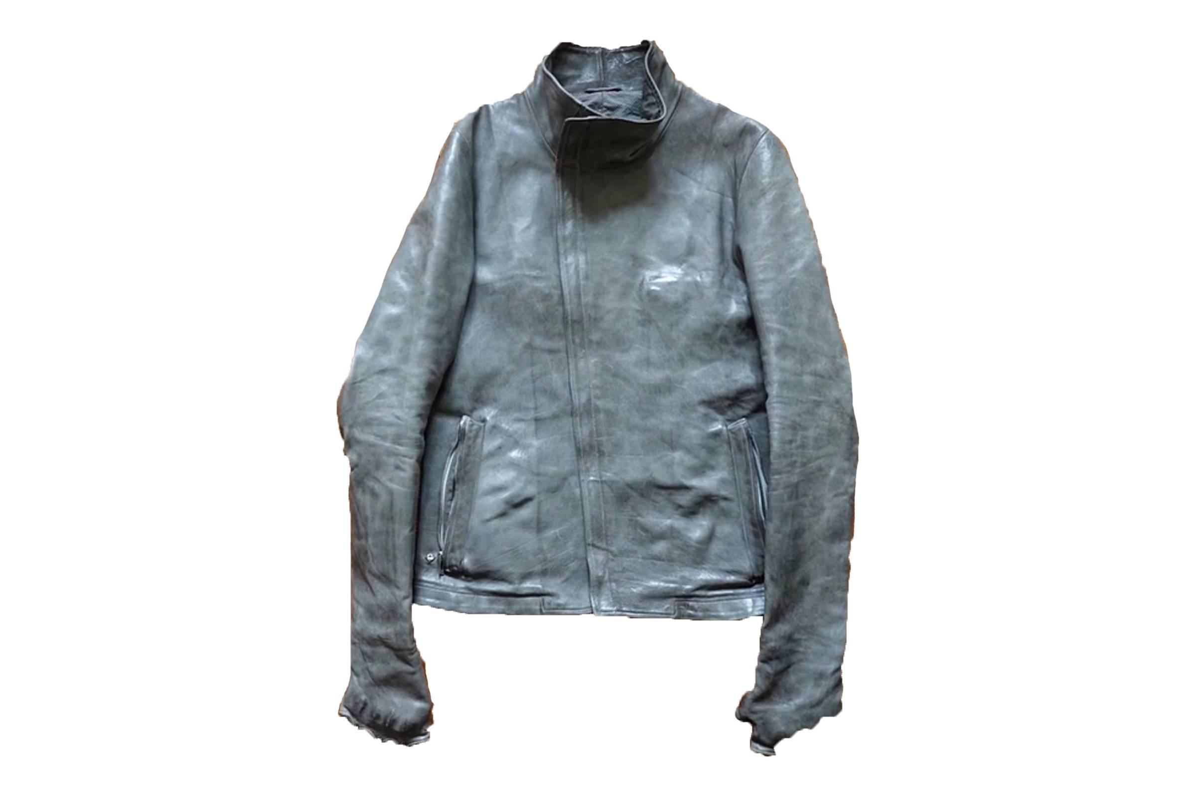 Carol Christian Poell Titanium Gloved Leather Jacket LM/2599G-SP