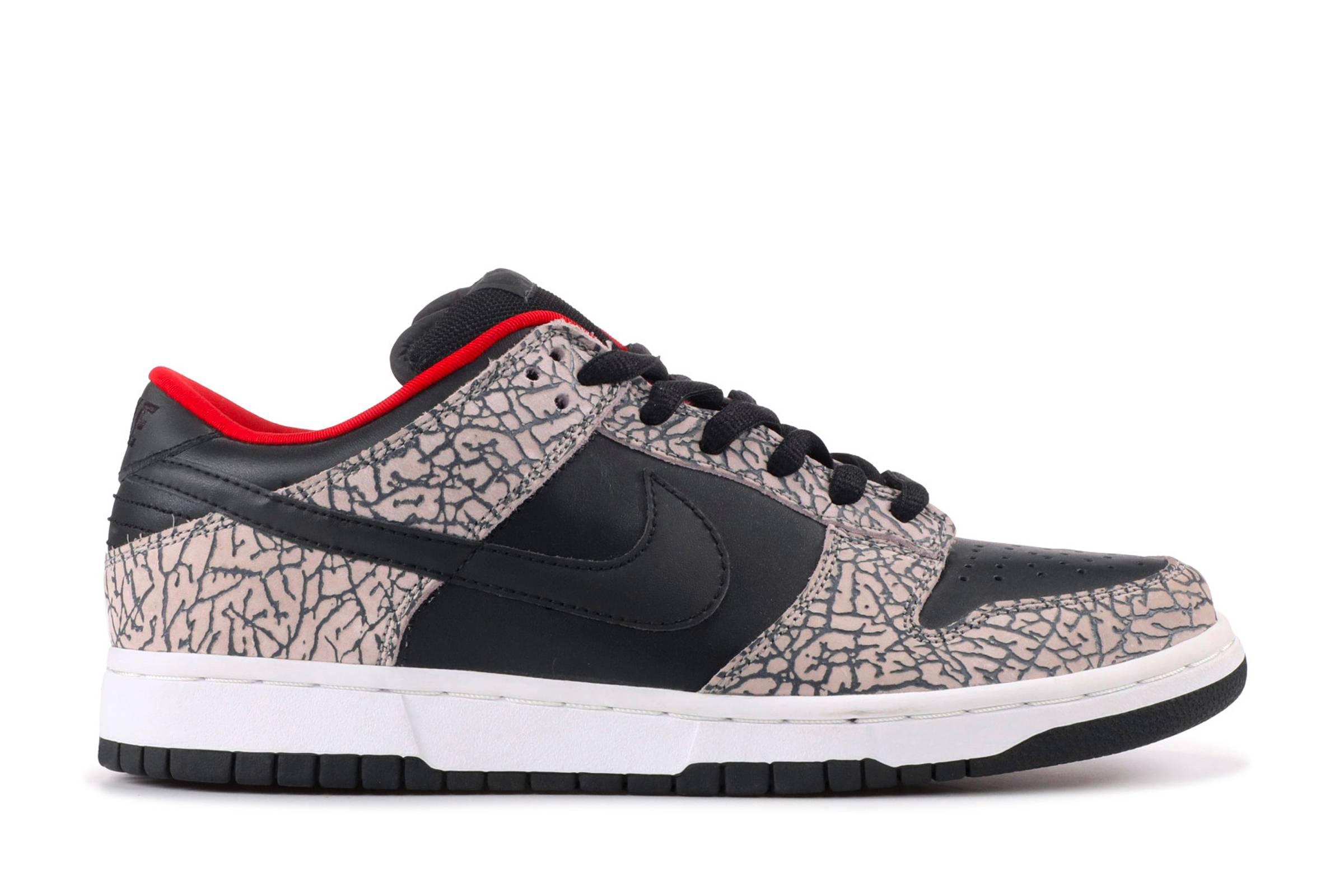 """Supreme x Nike Dunk SB Low """"Black Cement"""""""