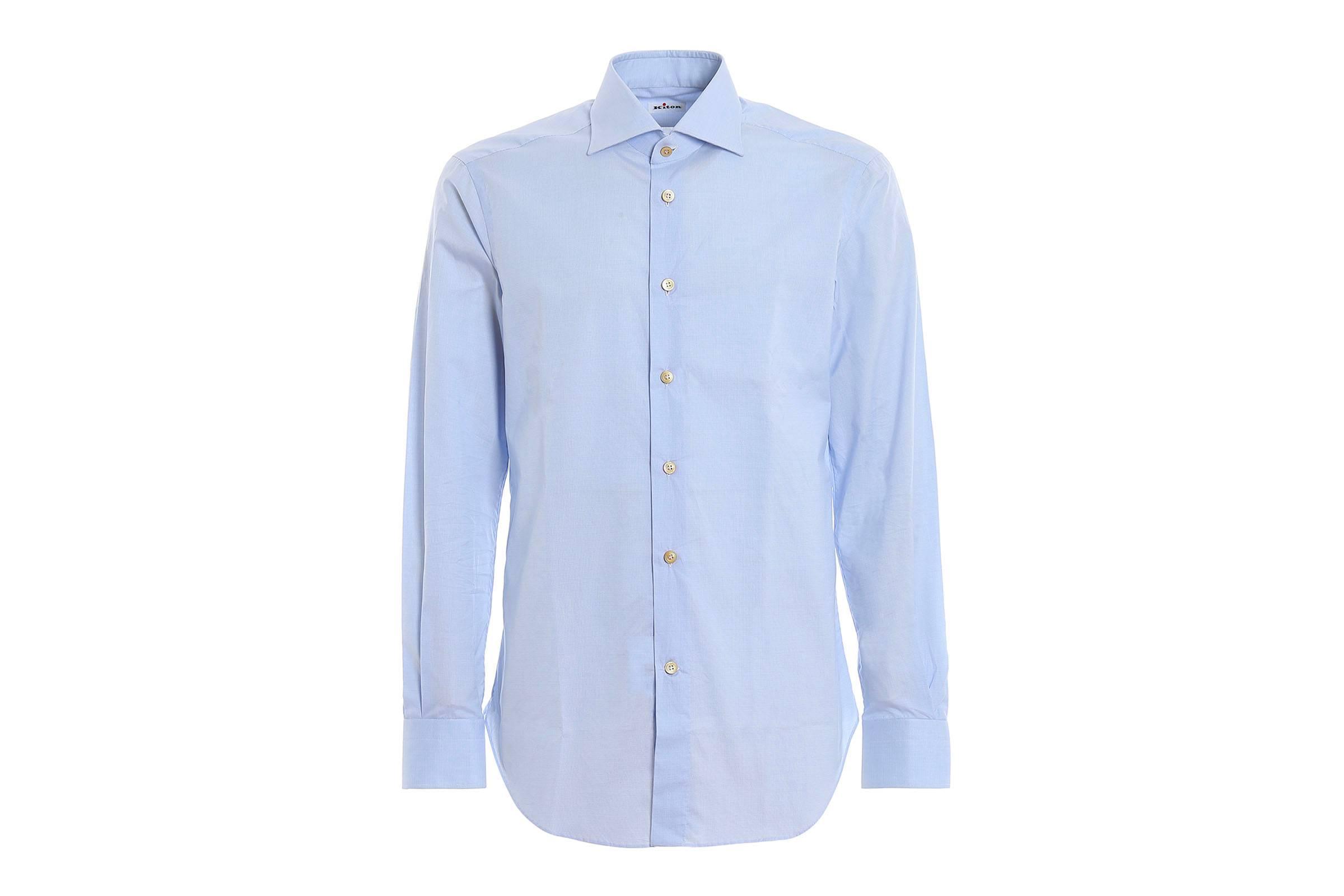 Kiton Spread Collar Shirt