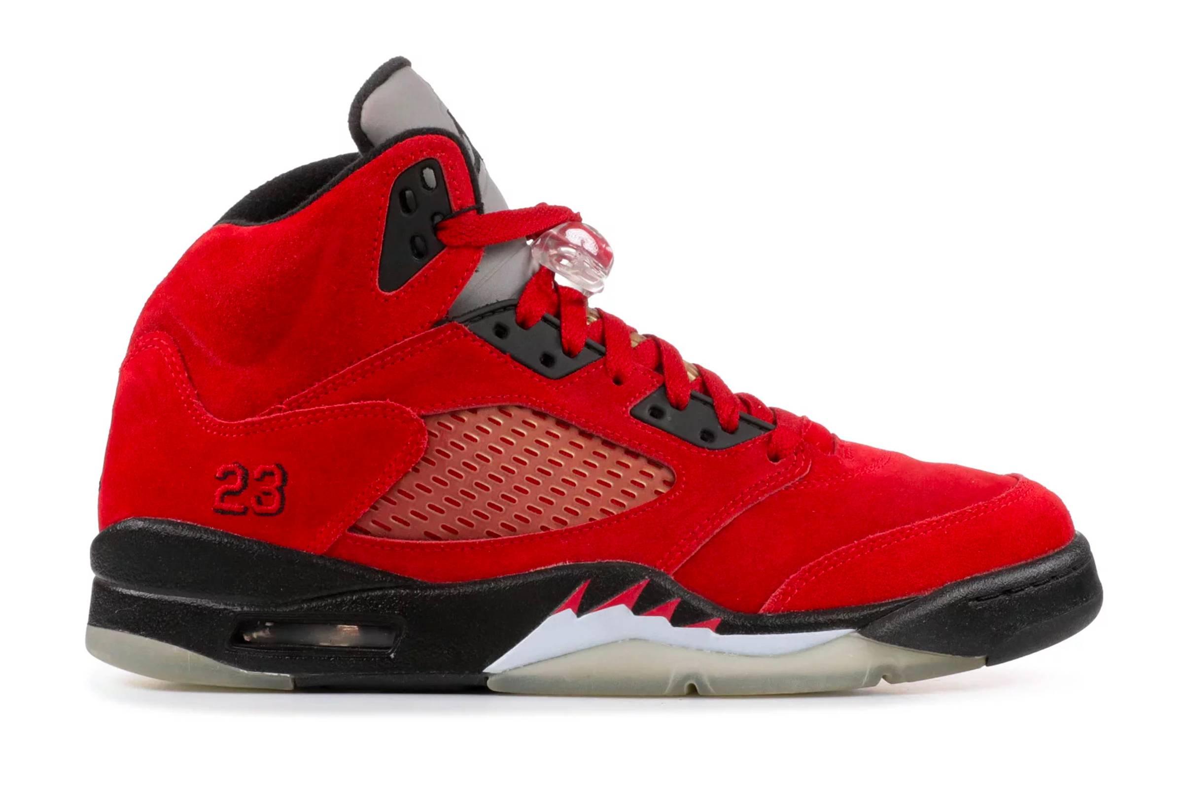 "Jordan V ""Raging Bull Red Suede"""