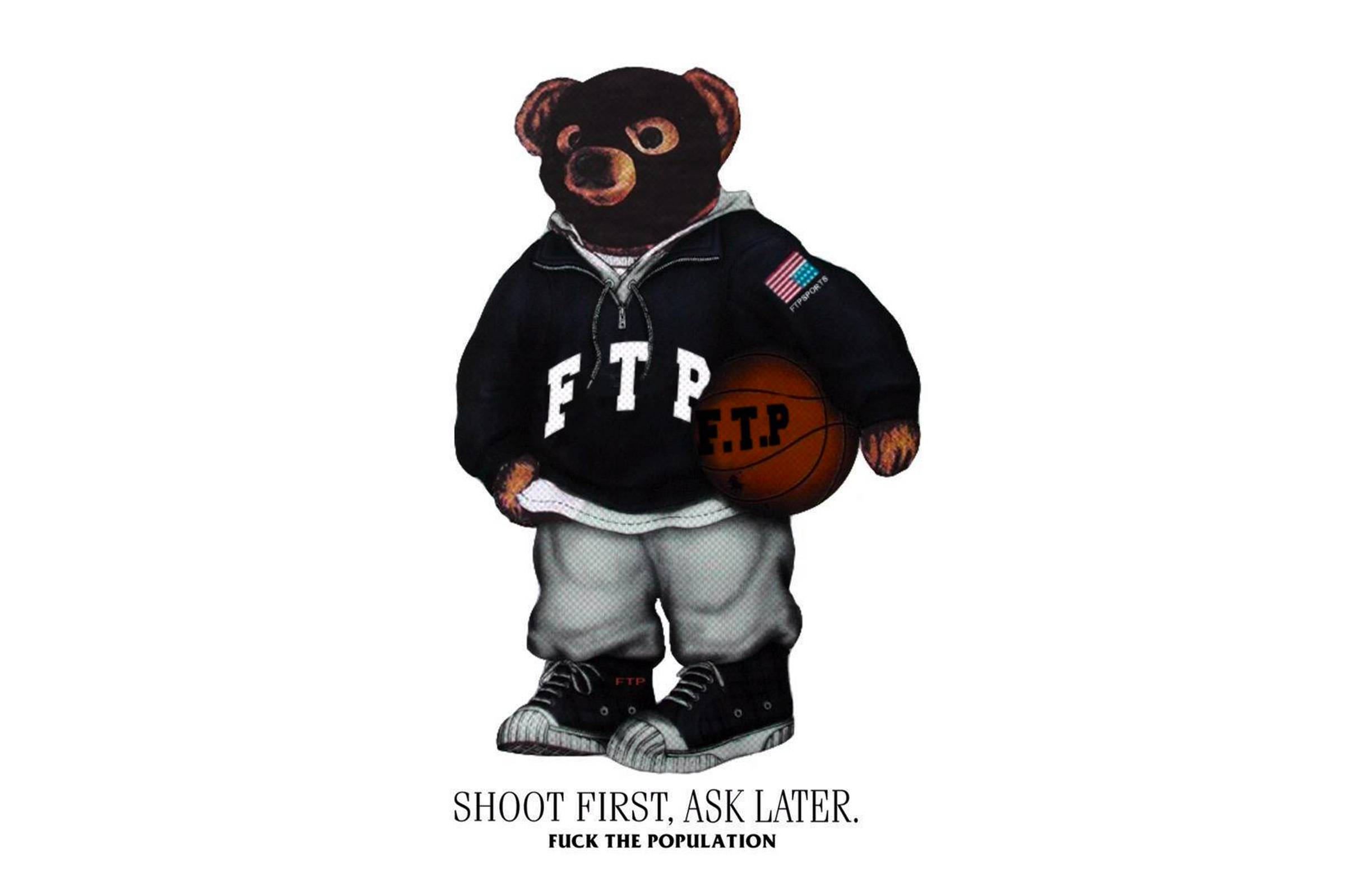"FTP's Polo Bear-inspired ""Shoot First. Ask Later"" graphic. This graphic remains a FTP fan-favorite."