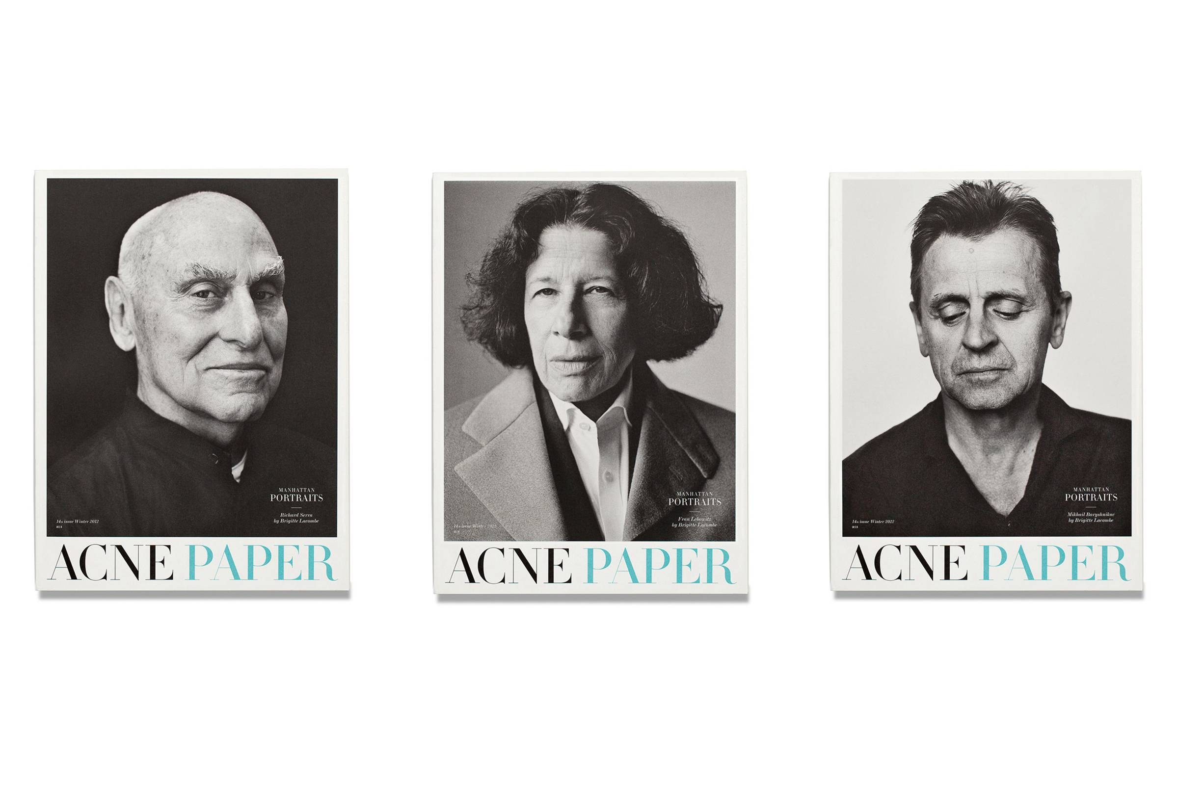 "Covers of ""Acne Paper"" Issue 14: ""Manhattan Portraits"""
