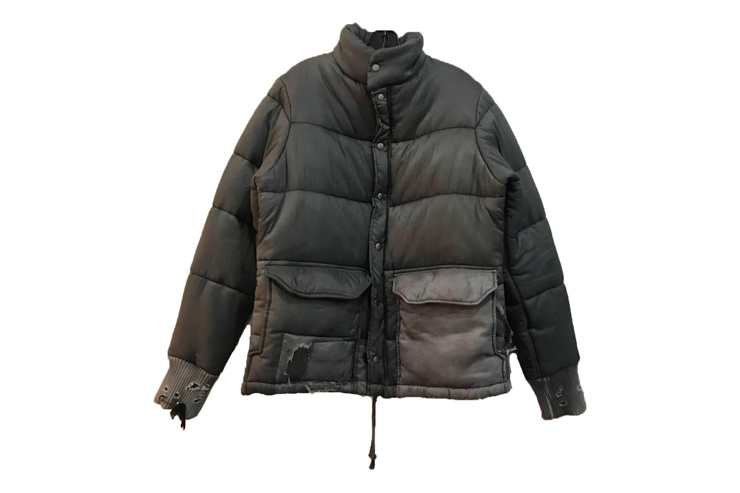 Greg Lauren Distressed Down Puffer Jacket