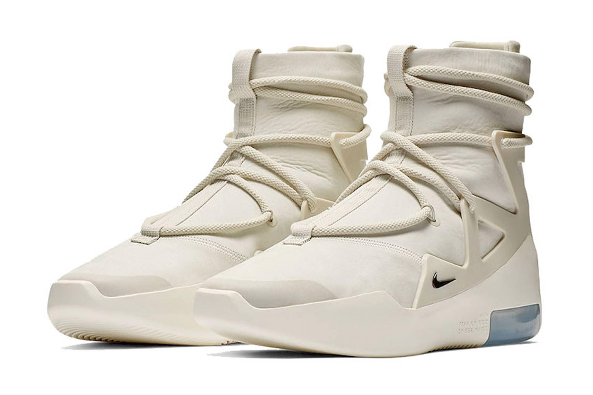 The Nike Air Fear of God 1 Drops in Light Bone January 12
