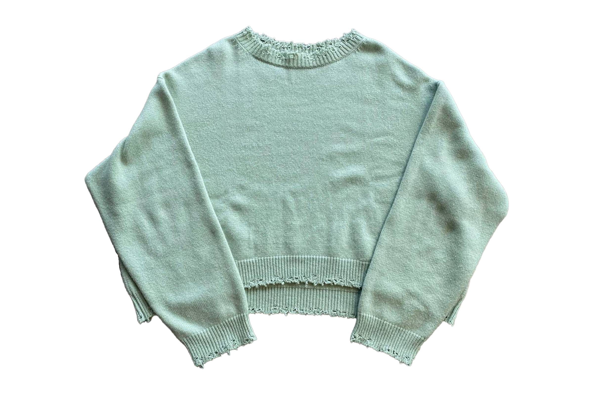 Bare Knuckles Cropped Cashmere Sweater
