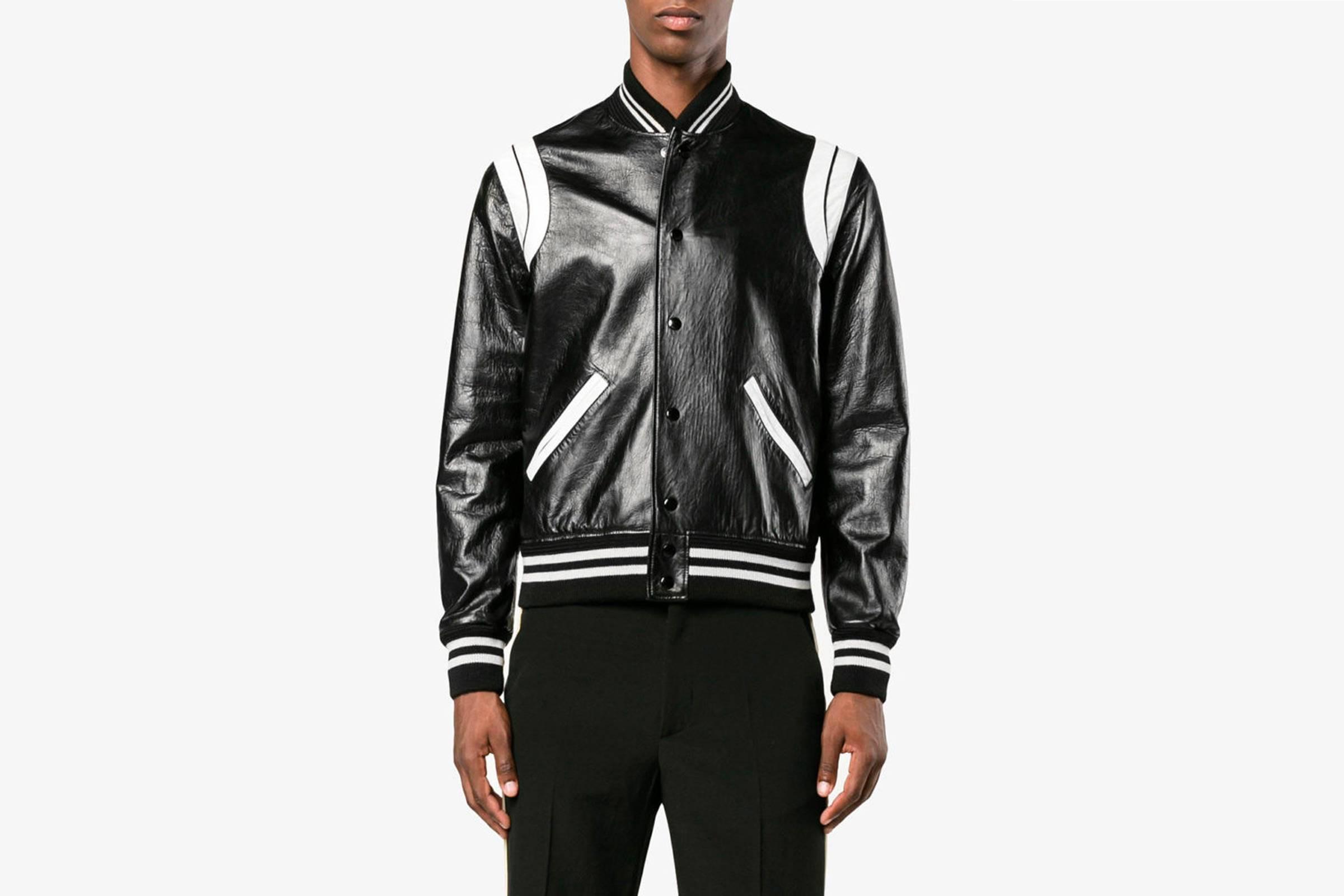 Saint Laurent Leather Teddy Jacket