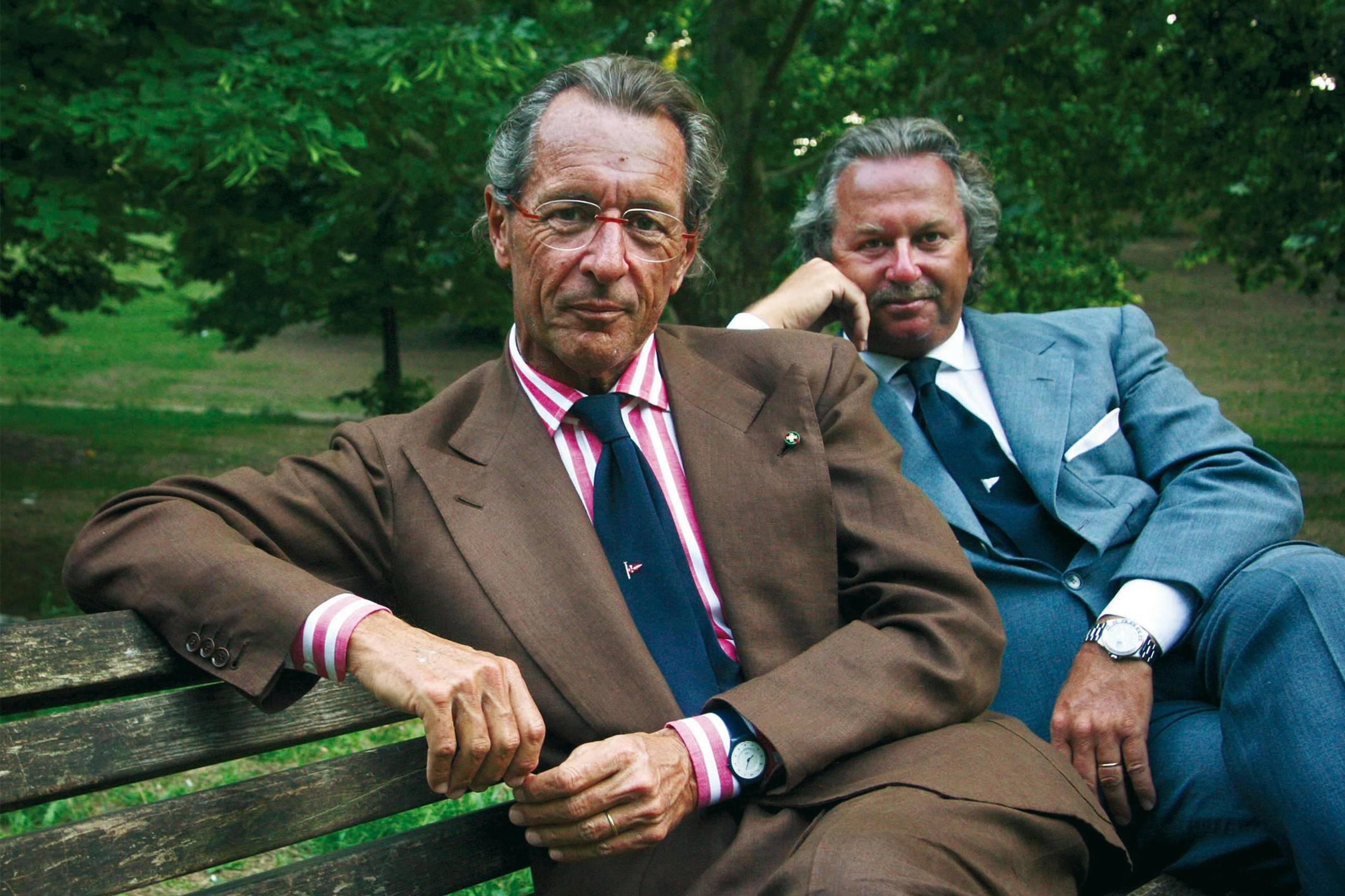 The last generation of Loro Piana's to lead the house. From left to right: Sergio and Pier-Luigi Loro Piana