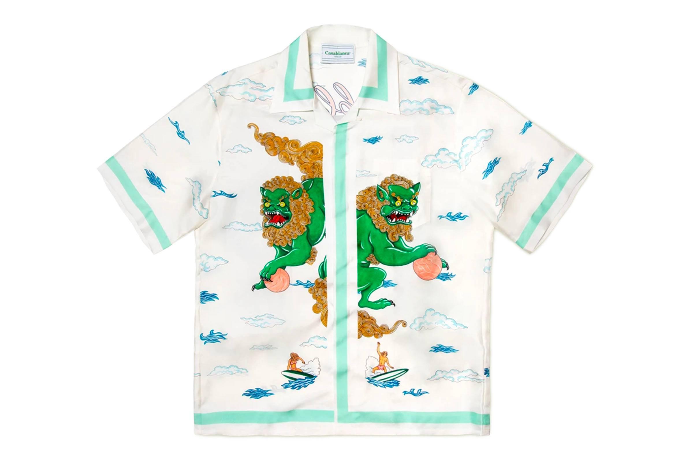 Casablanca Silk Paradise Print Shirt