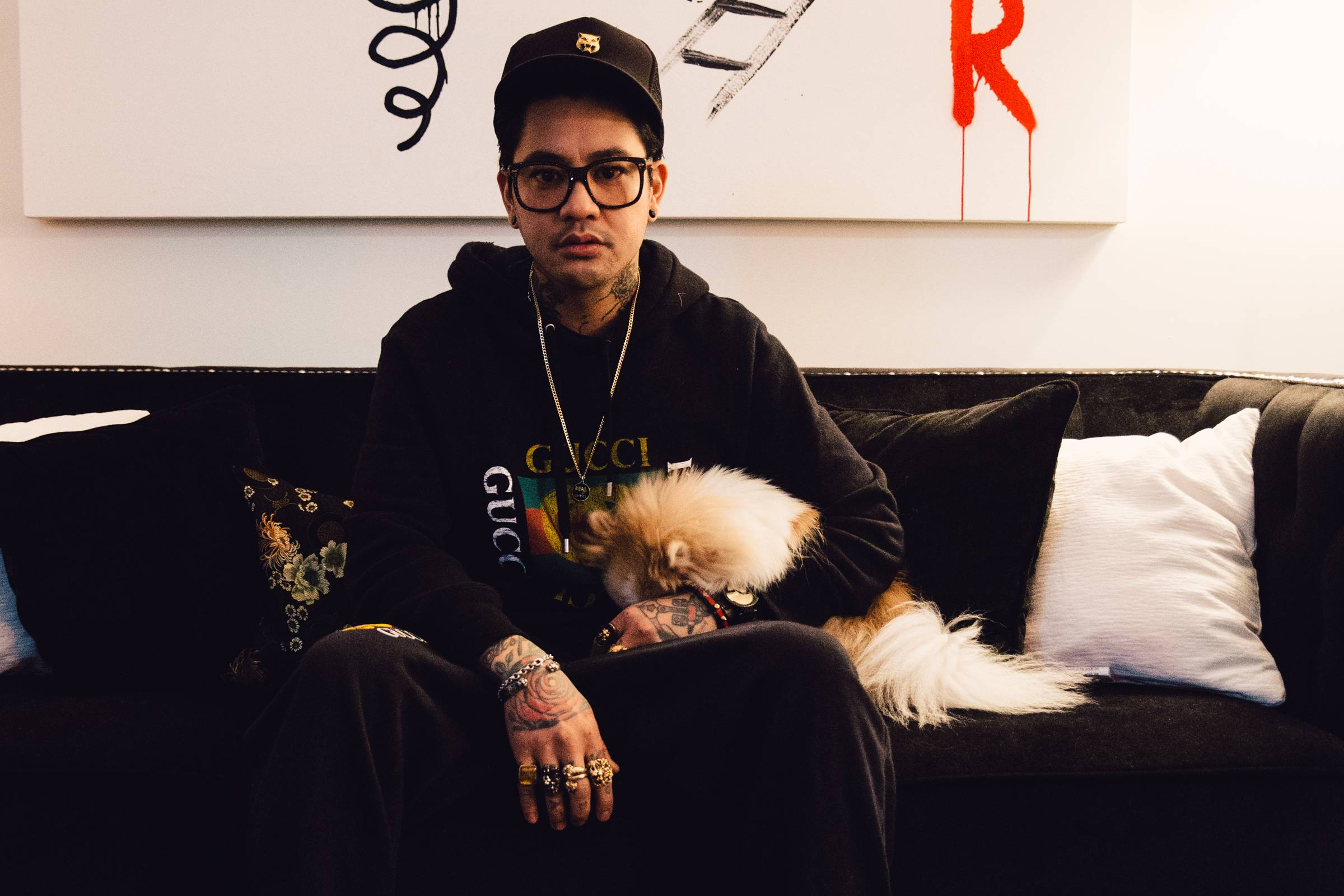 At Home With JonBoy: The Tattoo Artist Opens up About His Life and Wardrobe
