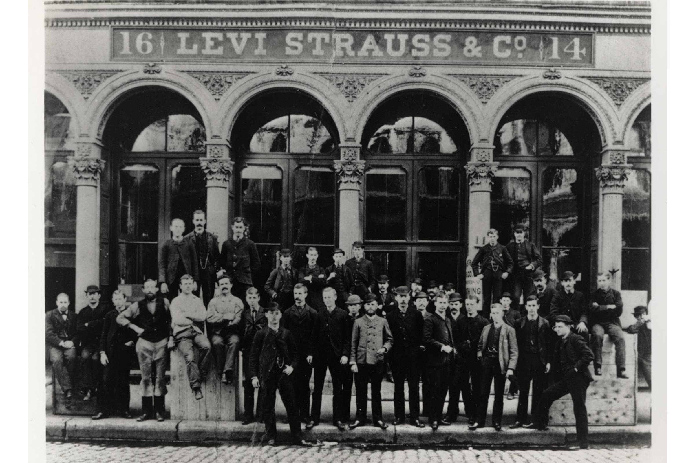 The original Levi's factory, at 14-16 Battery Street in San Francisco