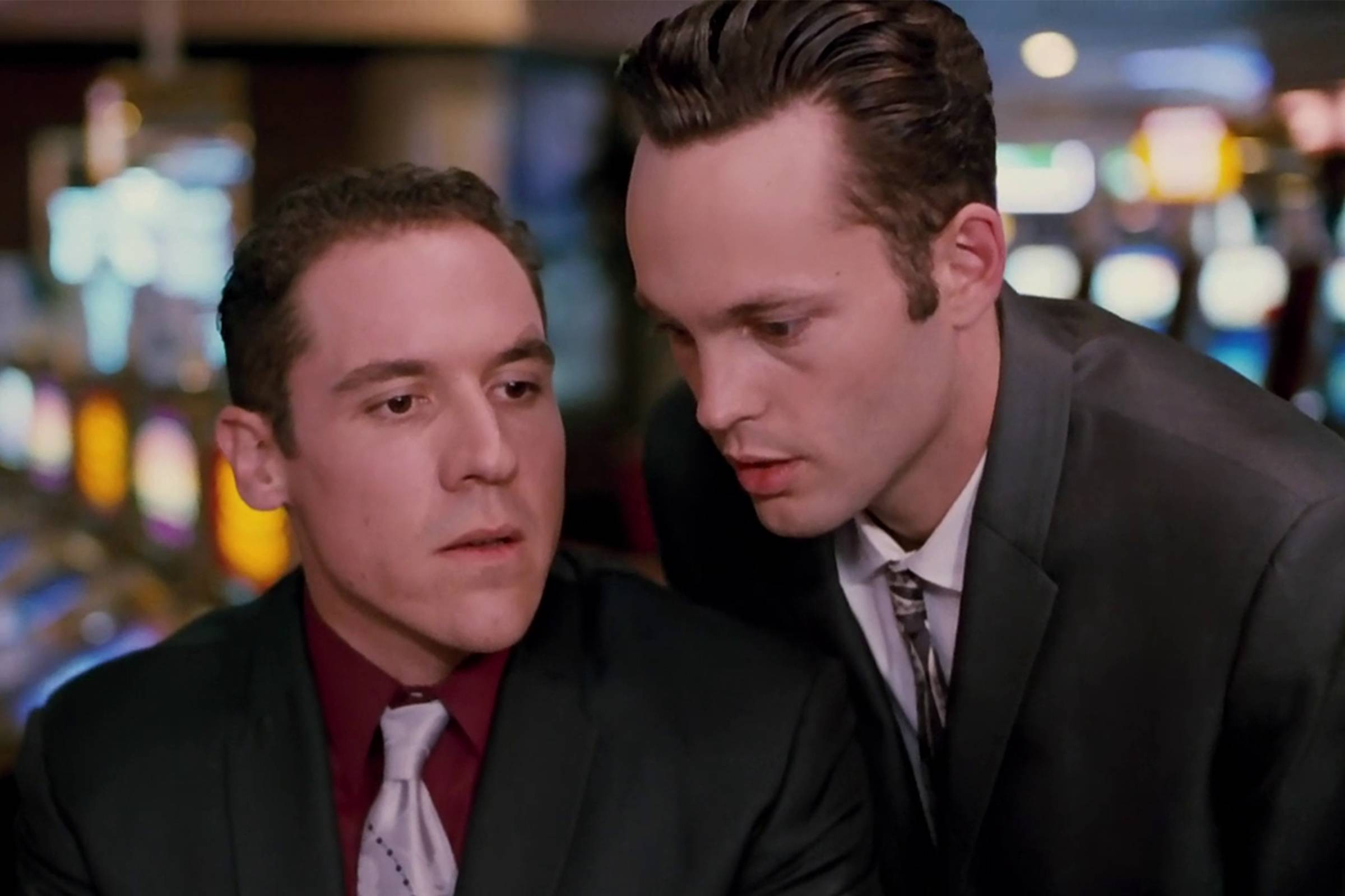 Mike (played by Jon Favreau) and Trent in Las Vegas pretending to be high-rollers