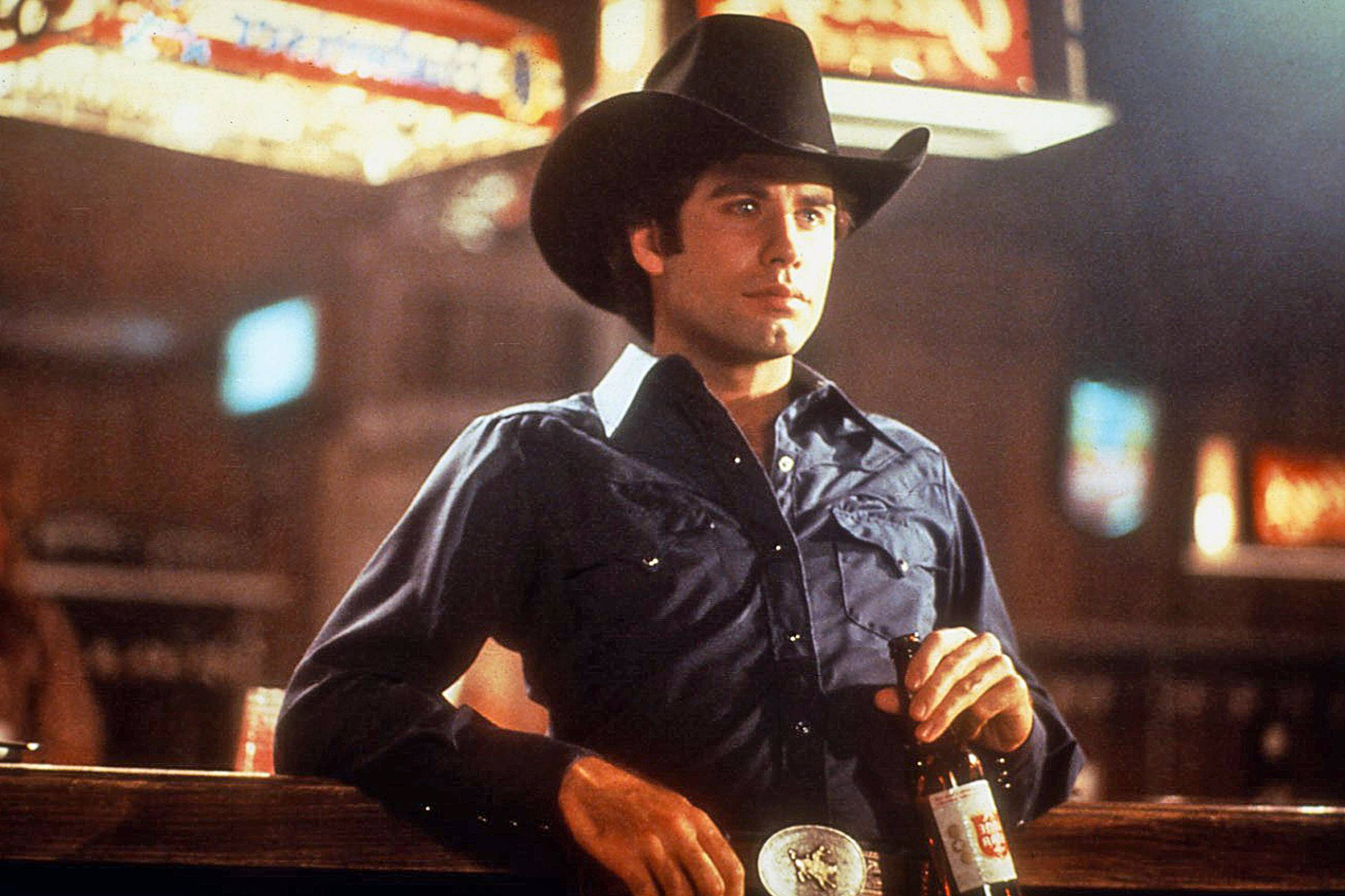 "John Travolta as Bud Davis in ""Urban Cowboy"""