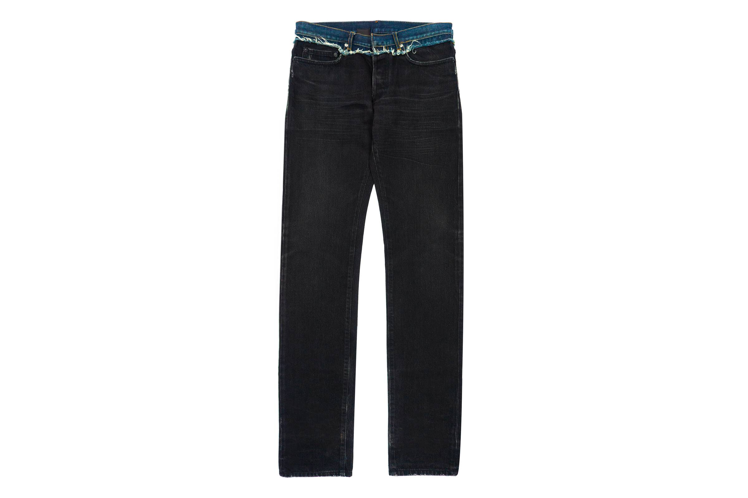 Dior Homme Black Cummerbund Jean