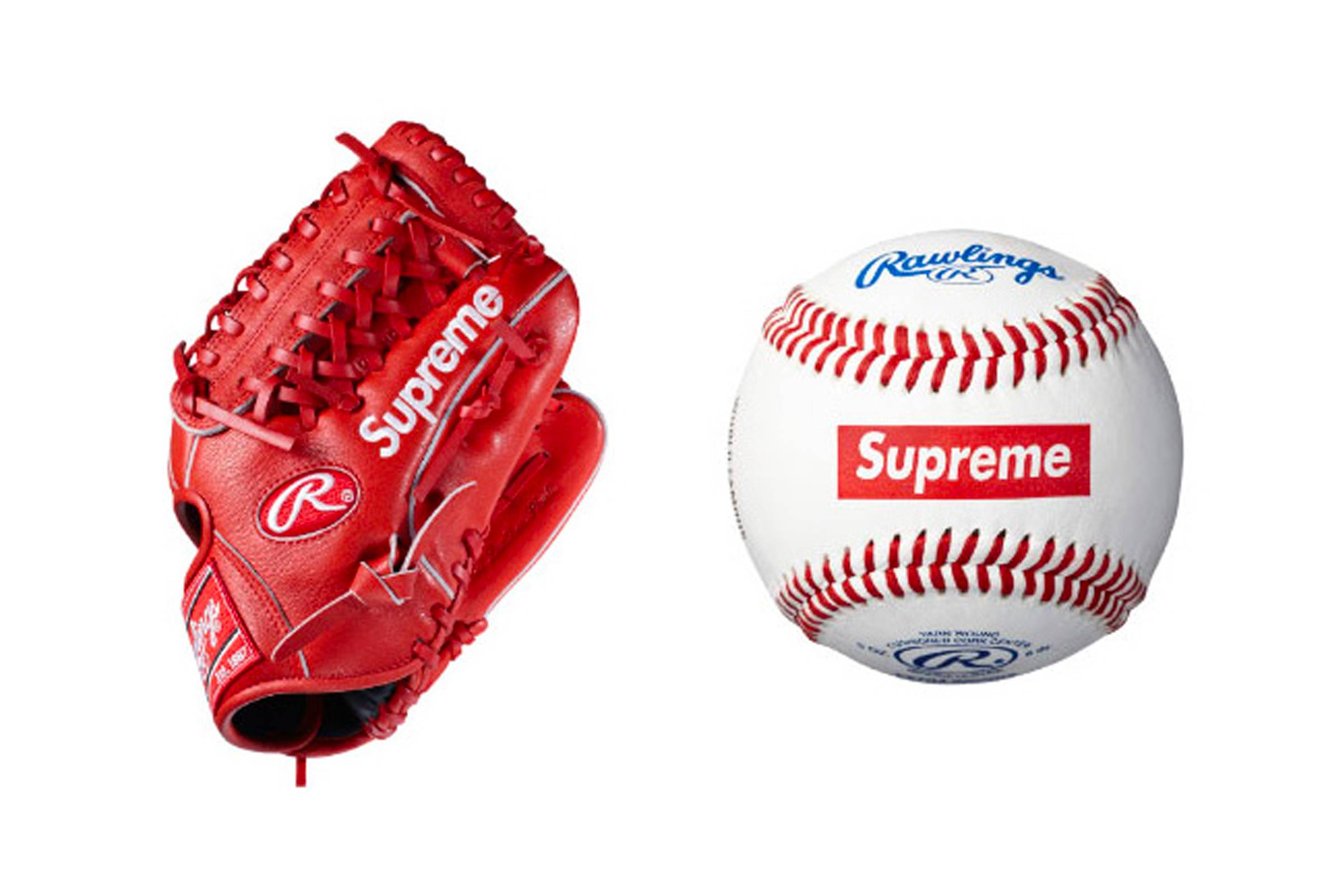 Supreme x Rawlings Baseball and Baseball Glove (Spring/Summer 2012)