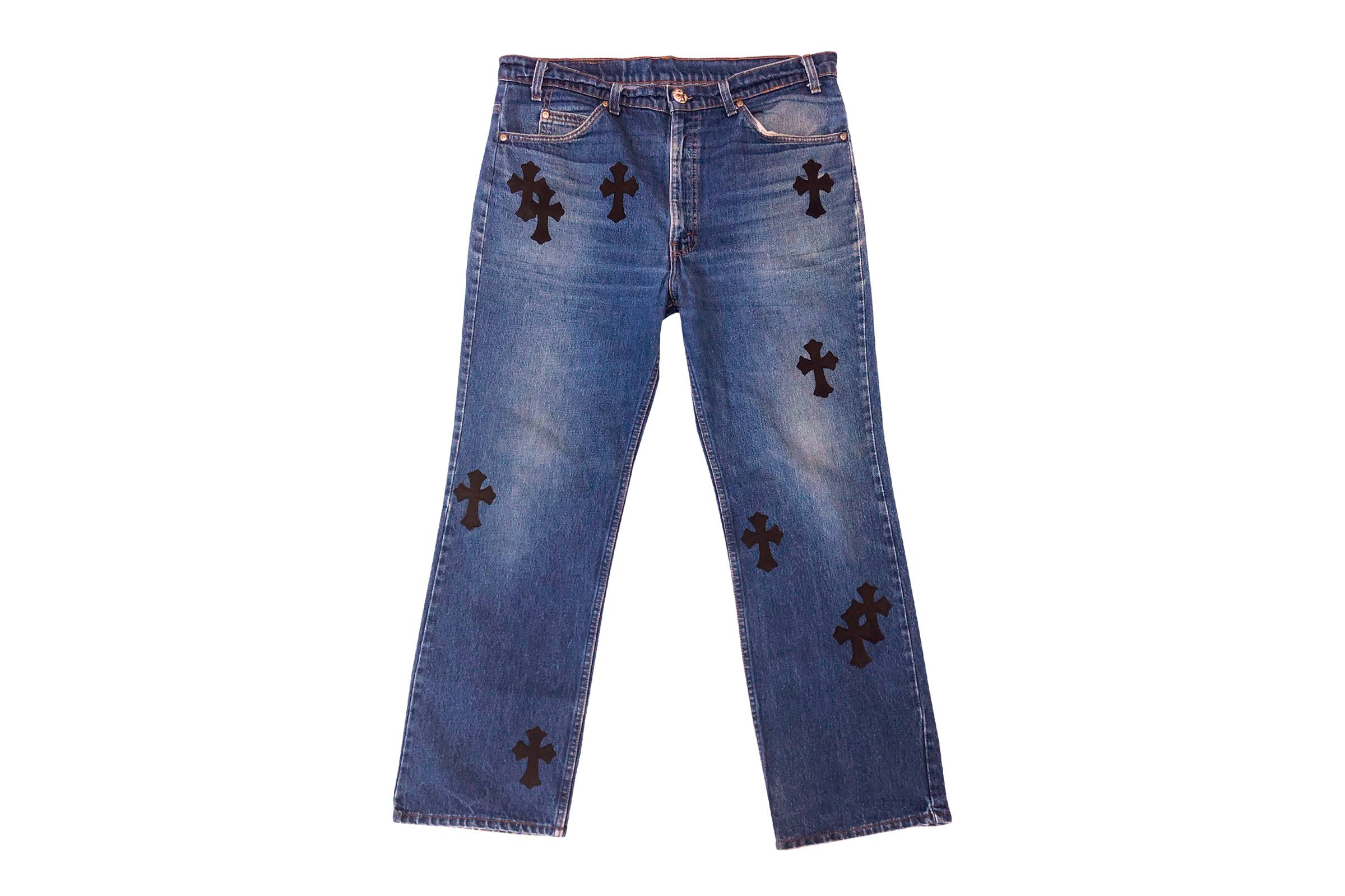 Chome Hearts x Levi's Orange Tab 517 Cross Patchwork Denim