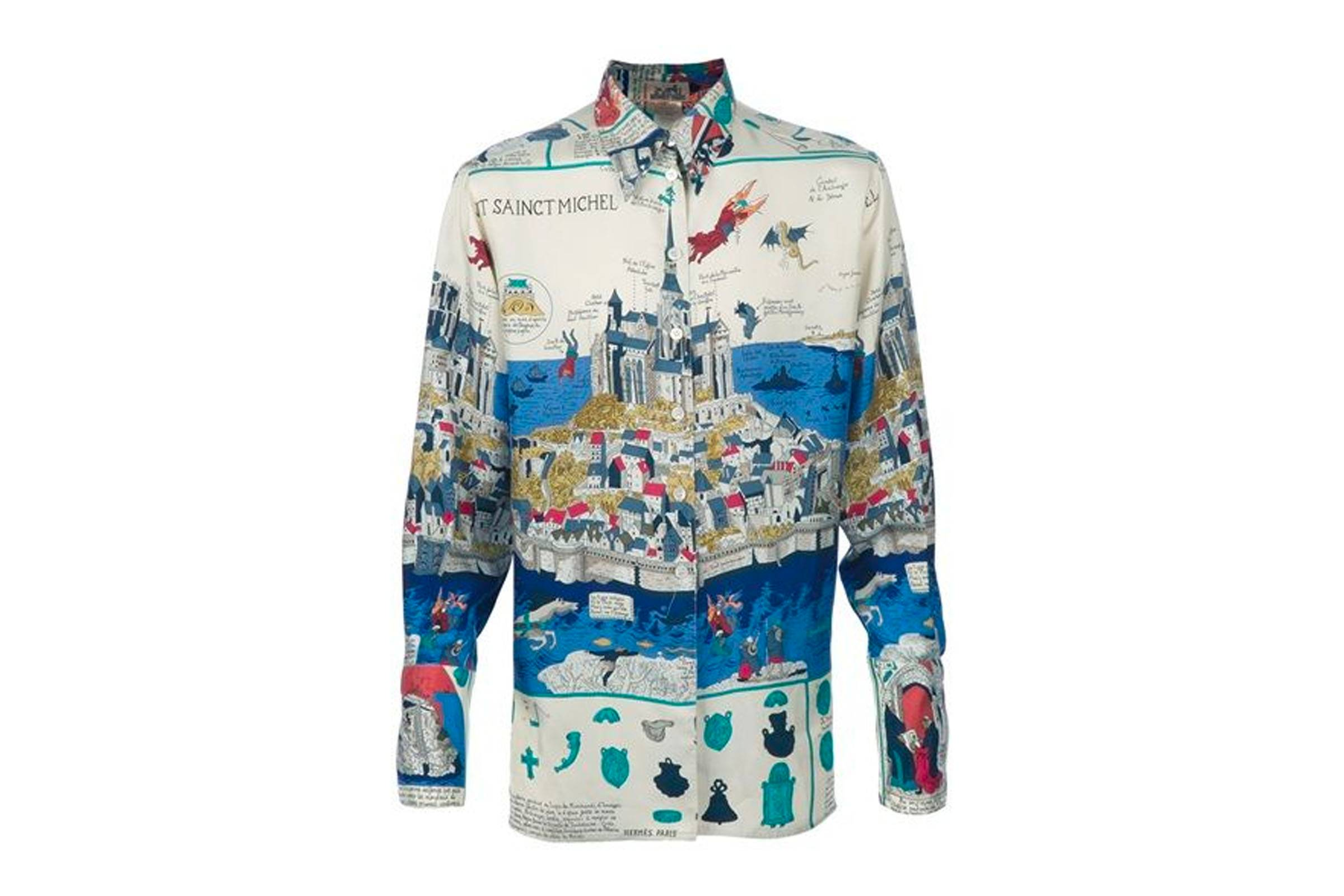 Hermès Silk Button Up