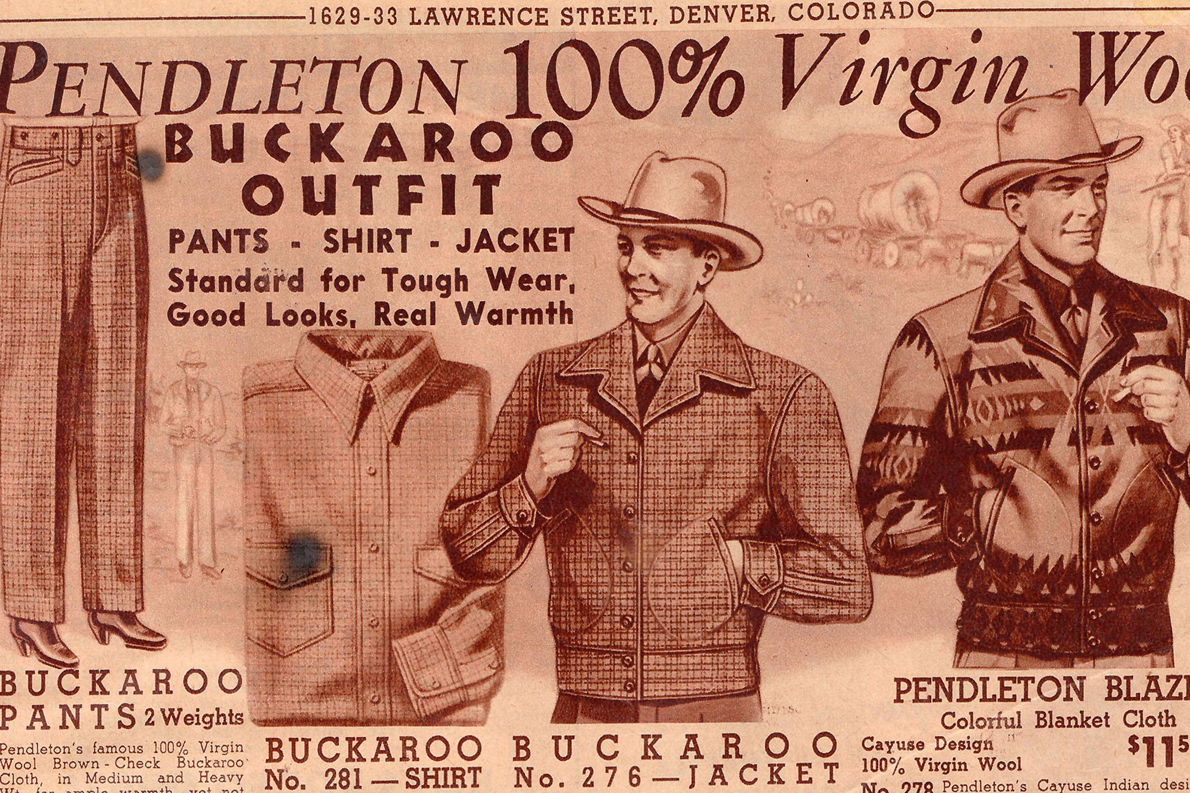 A Pendleton ad, seen in a 1941-1942 Stockman Farmer catalog