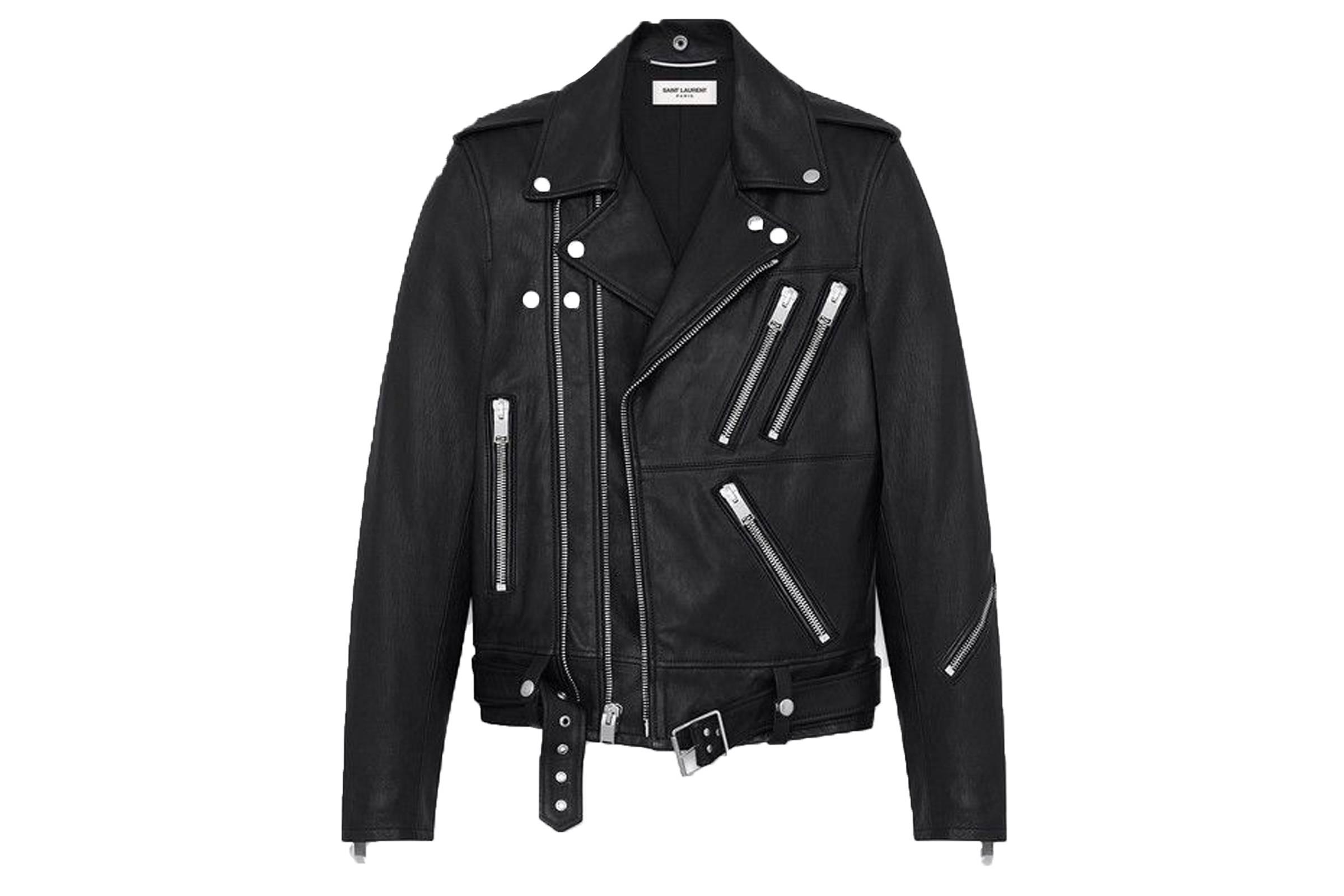 Saint Laurent Paris Multi-Zip Leather Jacket