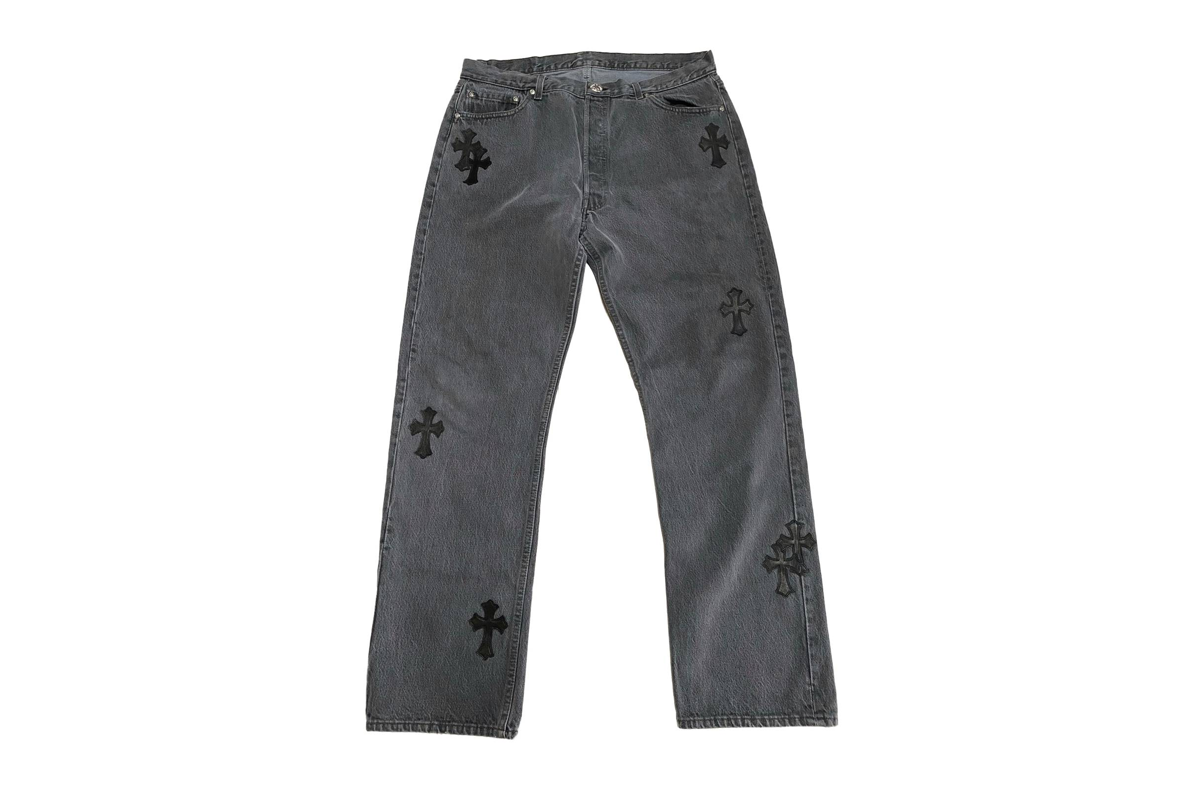 Chome Hearts x Levi's Cross Patchwork Denim