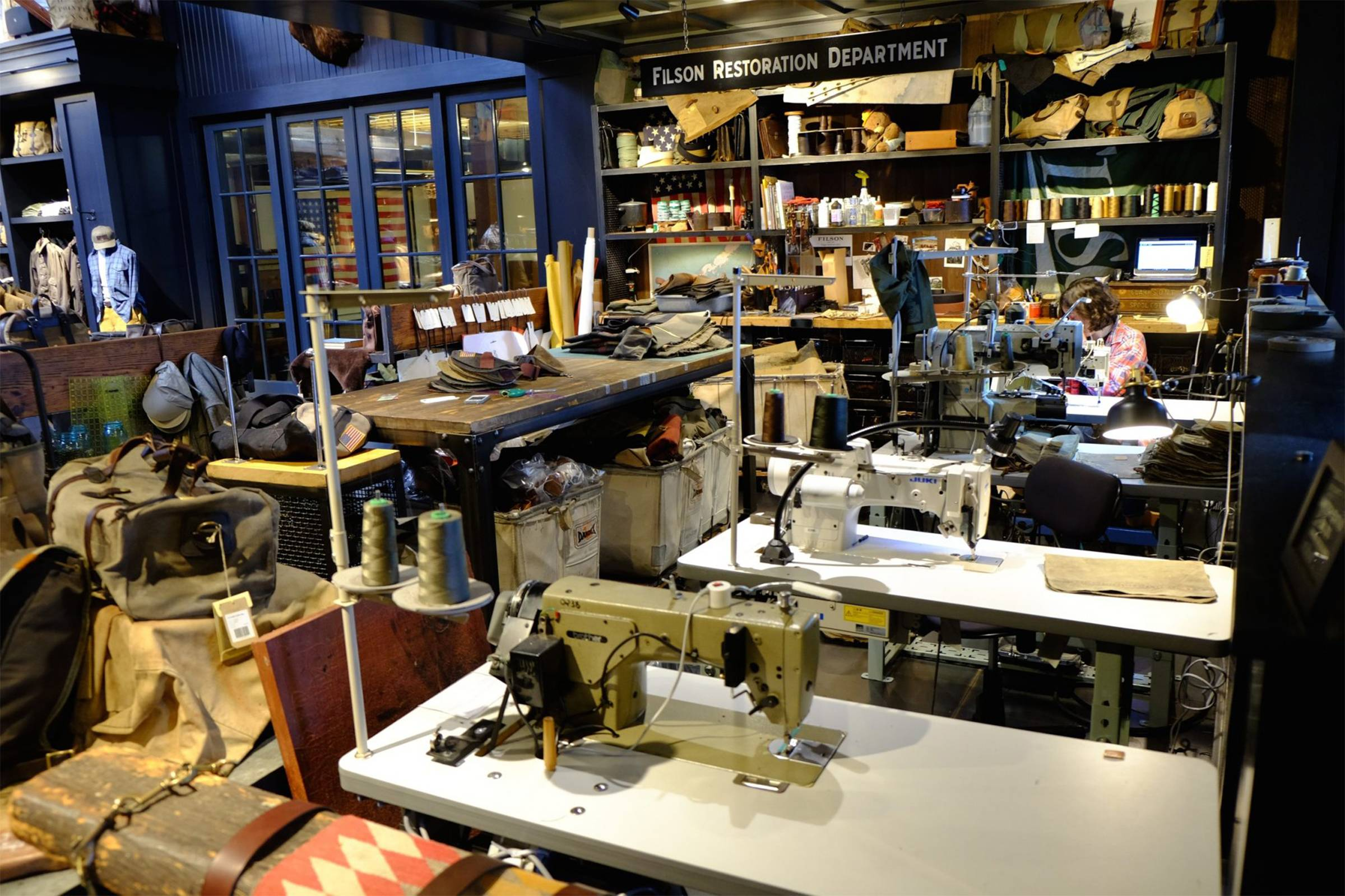 Filson's Seattle factory and flagship store