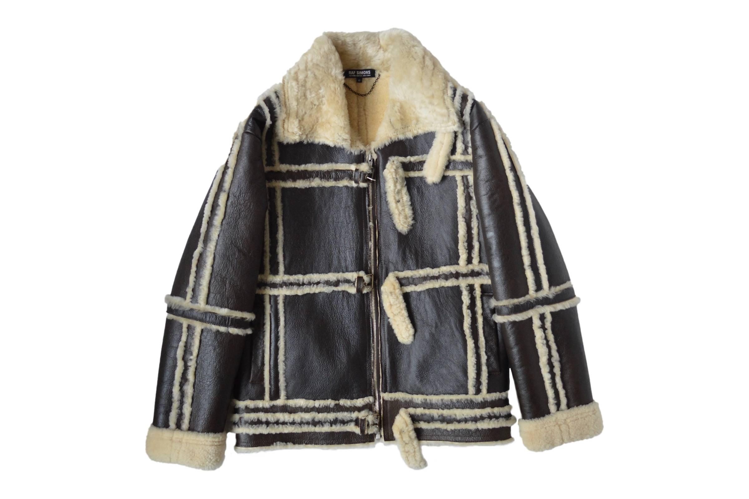"""Raf Simons Fall/Winter 2003 """"Closer"""" Shearling Coat"""