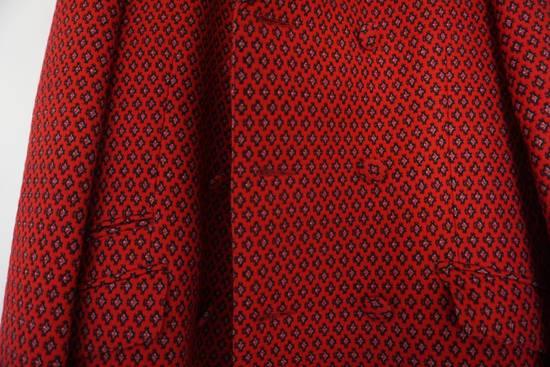 Prada red jacquard coat 2012 fall runway Size US M / EU 48-50 / 2 - 11