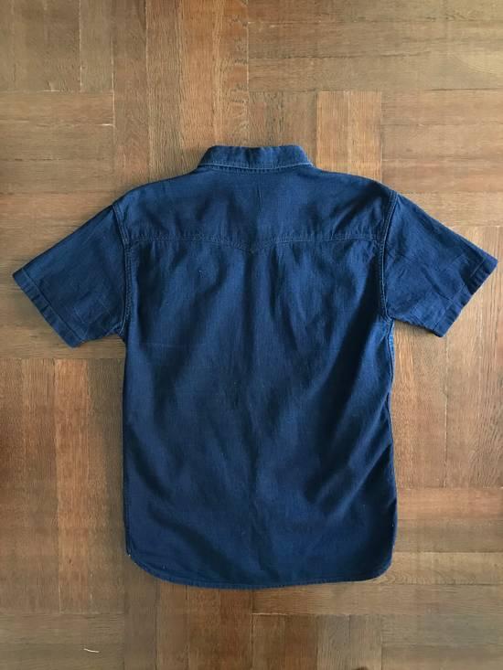 The Flat Head The Flat Head Indigo Dyed Selvedge Linen Shirt, Size 42 (Medium Self Edge) Size US M / EU 48-50 / 2 - 4