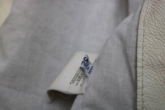 Maison Margiela SS 2002 WHITE LEATHER JACKET WITH PATCHES Size US L / EU 52-54 / 3 - 9
