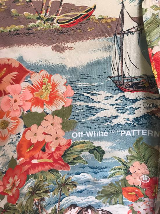 Off-White Off White Silk Hawaiian Shirt Size US L / EU 52-54 / 3 - 2