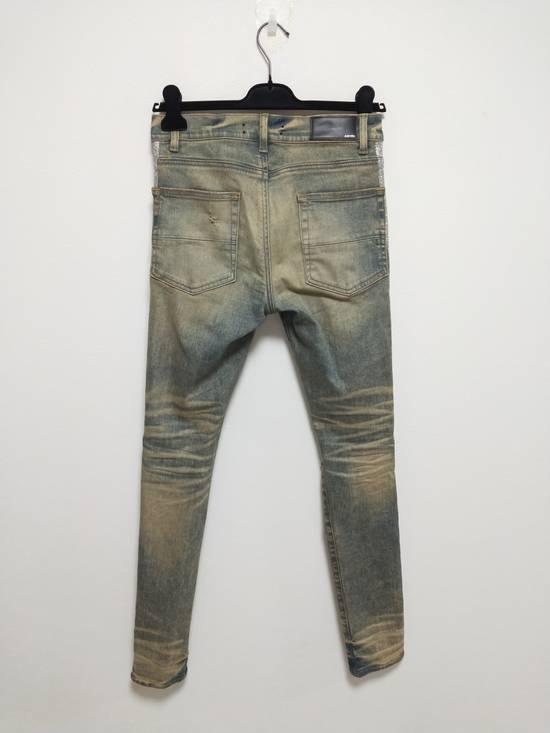 Amiri Dirty Indigo Glitter Track Jeans Size US 31 - 1
