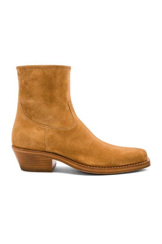 Raf Simons EU43 - Caramel Brown Calf Leather Suede Western Boots - SS18 Size US 10 / EU 43 - 15